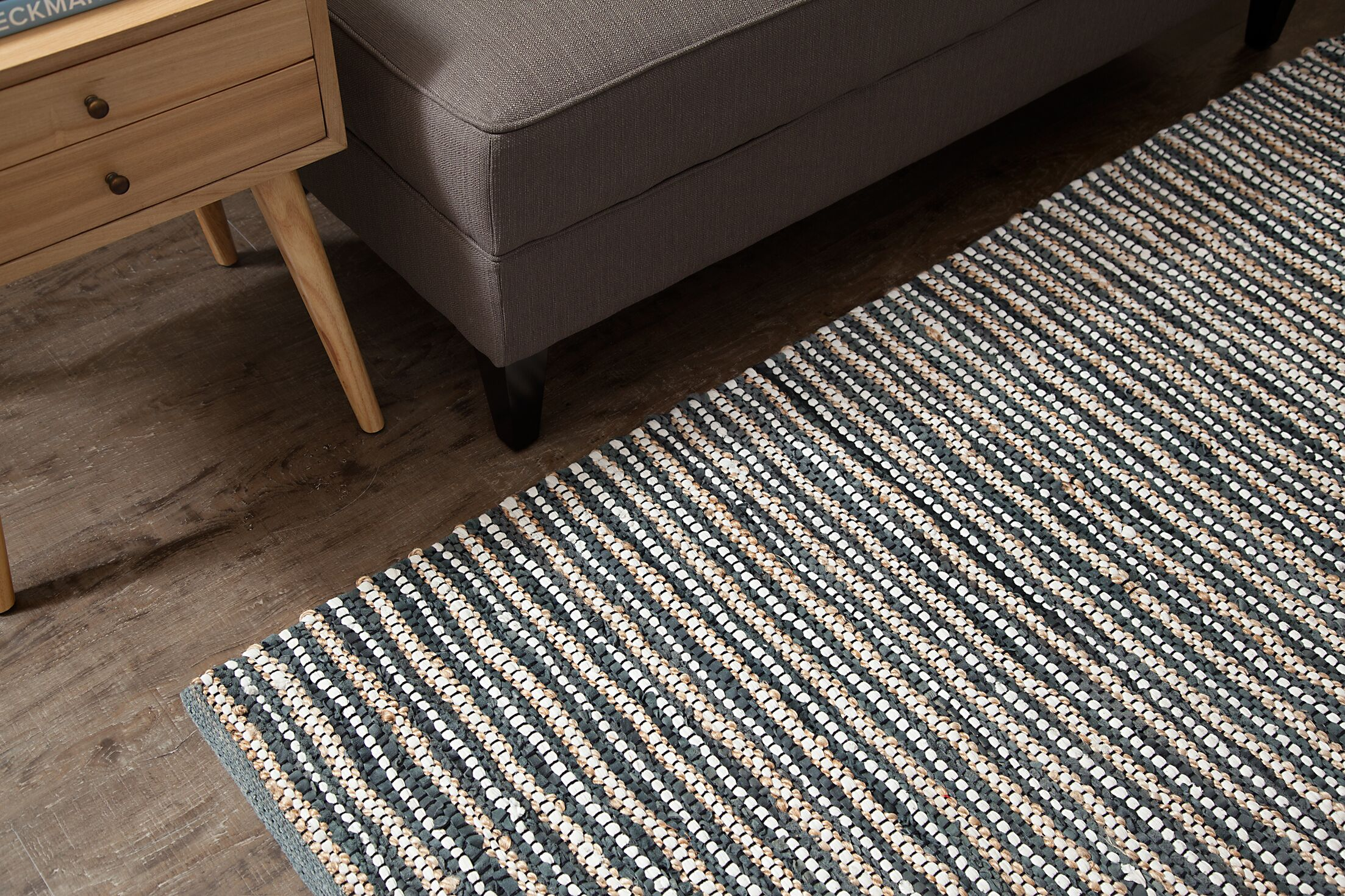 Holden Hand-Woven Smoky Blue Area Rug Rug Size: Rectangle 8' x 10'