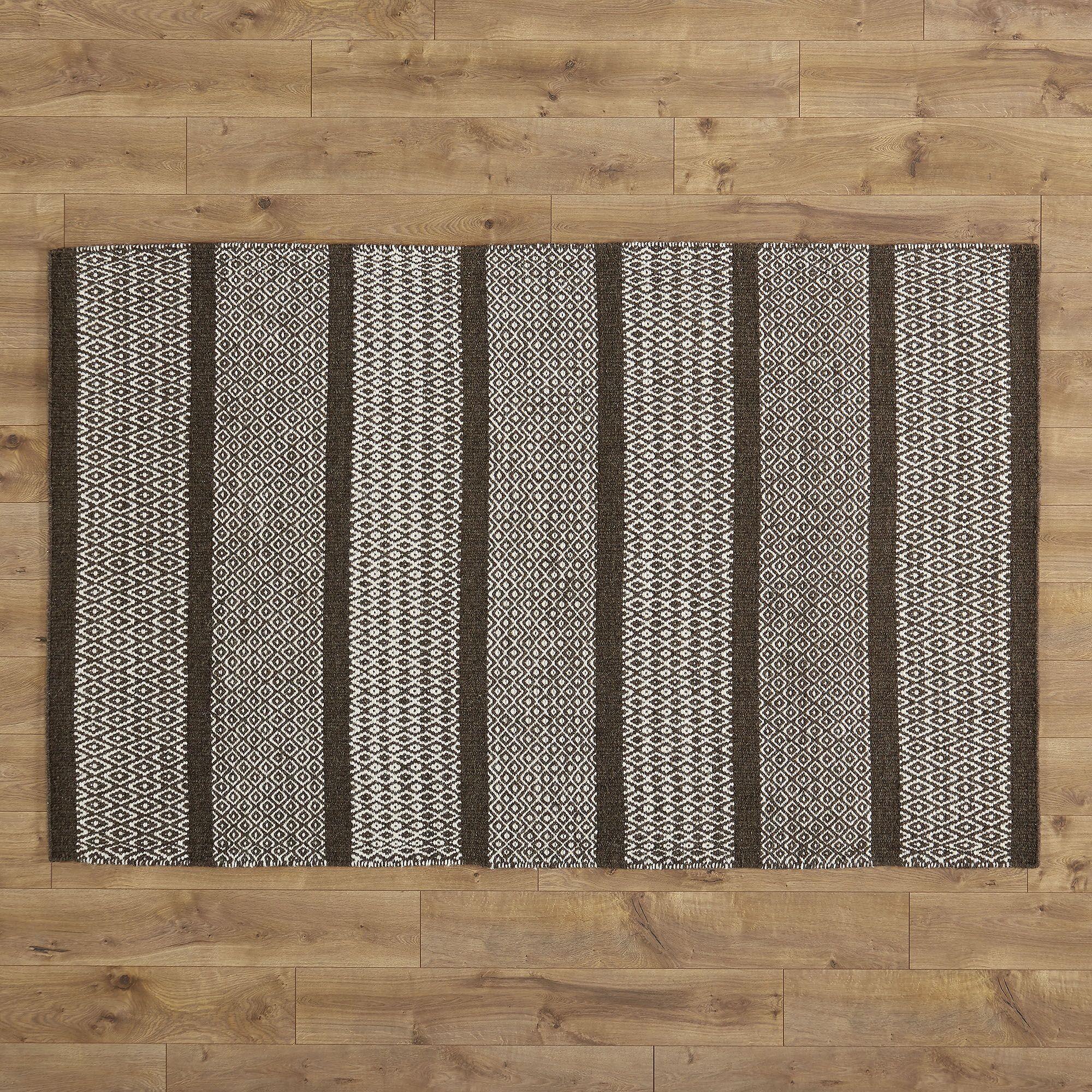 Willard Hand-Woven Chocolate Area Rug Rug Size: Rectangle 9' x 12'