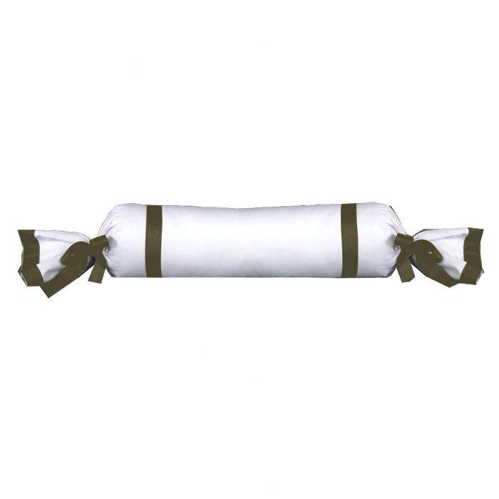 Celina Bedding Cotton Bolster Pillow Color: White / Moss