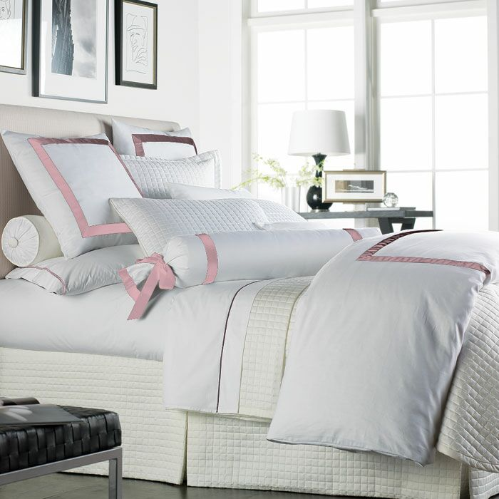 Celina Bedding 2 Piece 300 Thread Count Egyptian Quality Cotton Sheet Set Size: King, Color: White / Pink