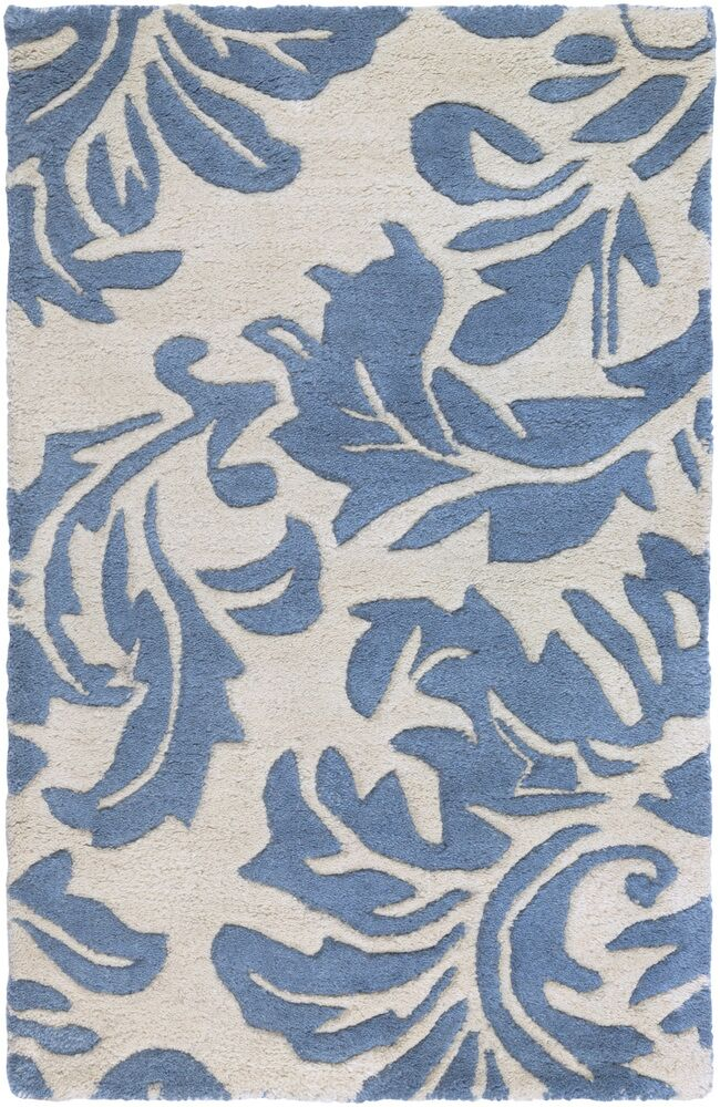 Diana Hand-Woven Denim/Cream Area Rug Rug Size: Square 9'9
