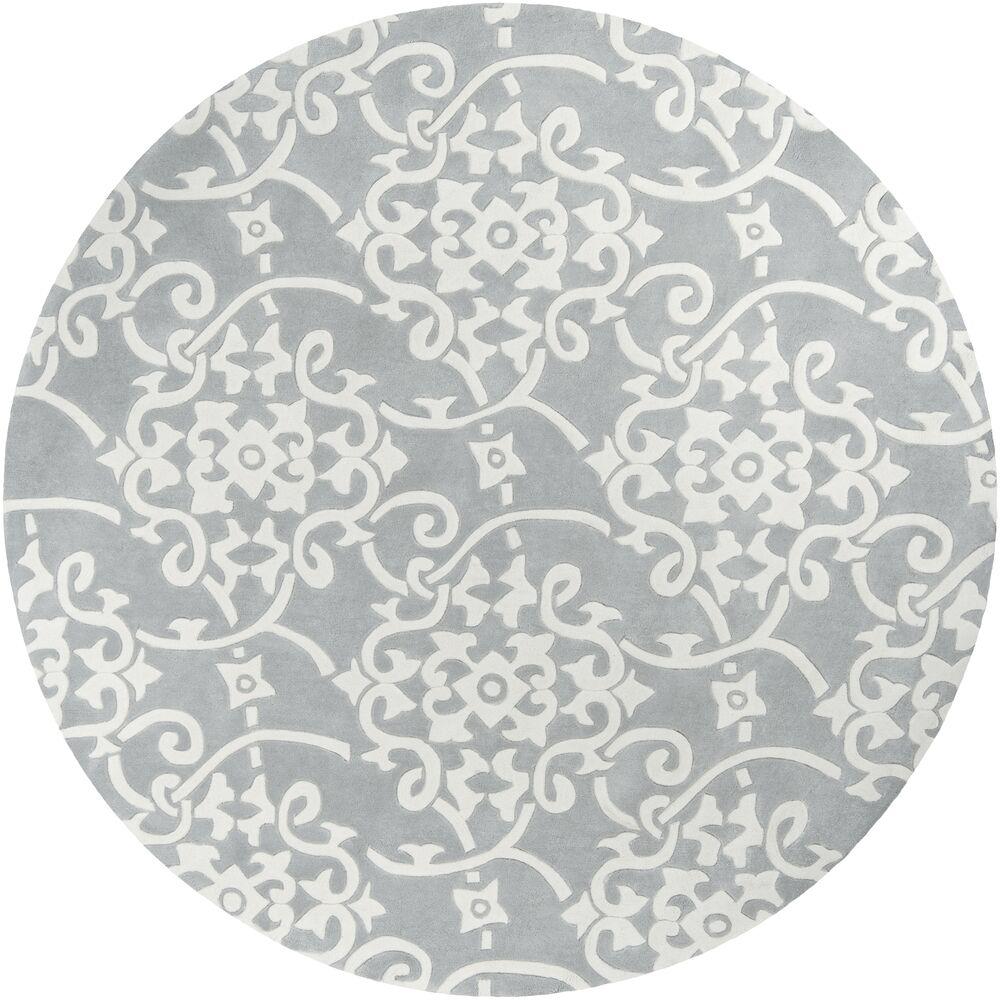Shauna Hand-Tufted Gray Area Rug Rug Size: Round 8'