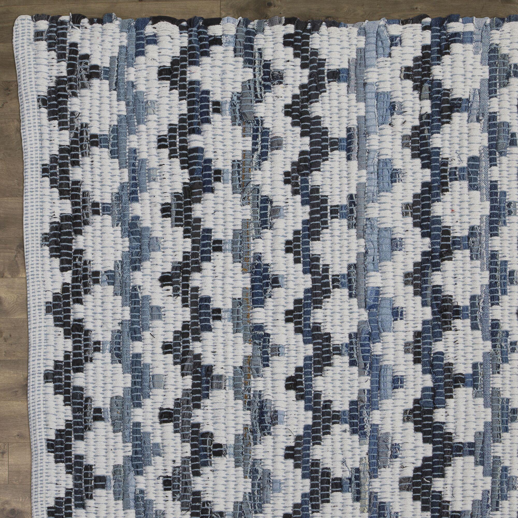 Layne Hand-Woven Cotton Area Rug Rug Size: Rectangle 6' x 9'