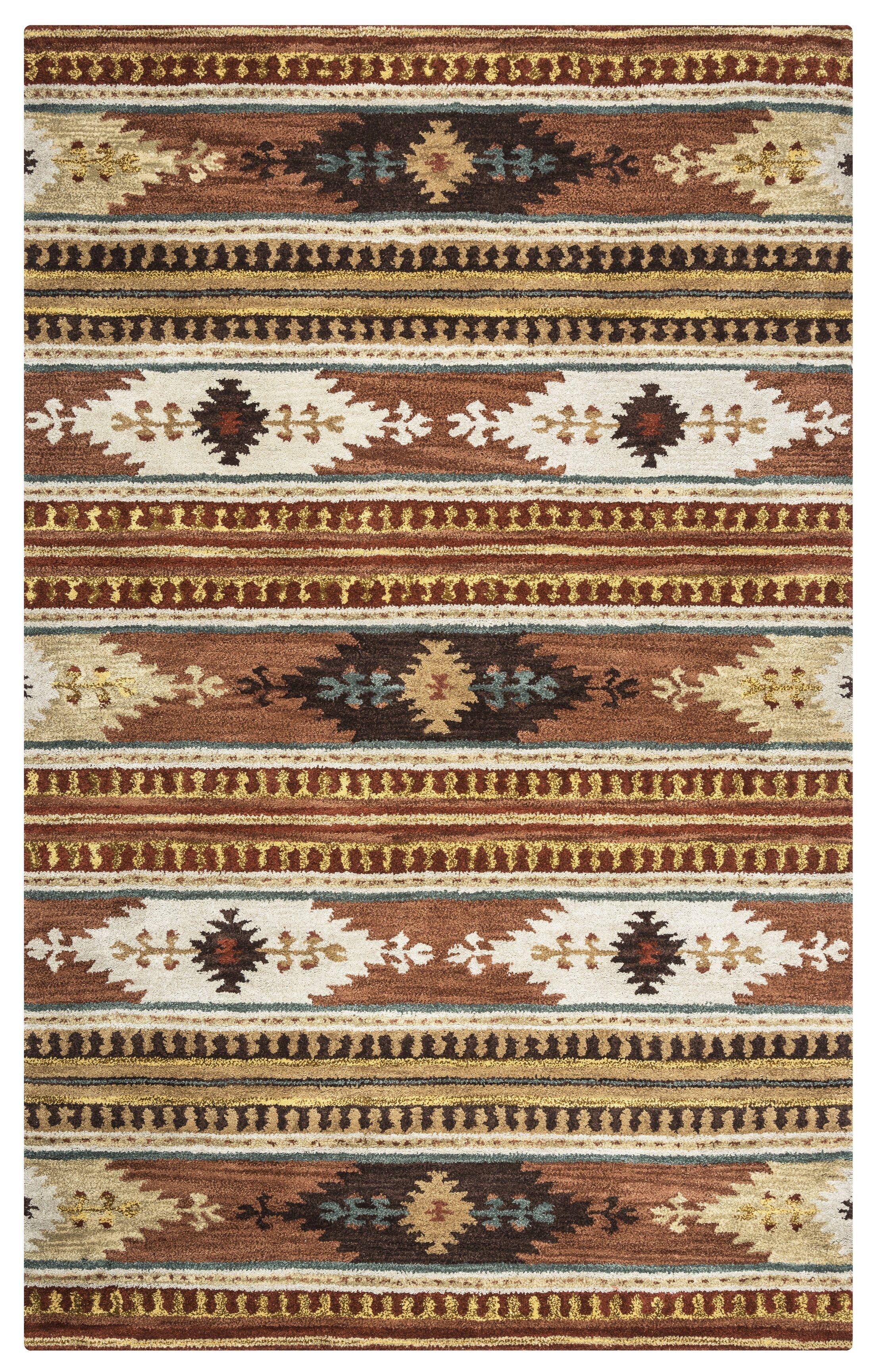 Magda Hand-Woven Wool Area Rug Rug Size: Rectangle 5' x 8'