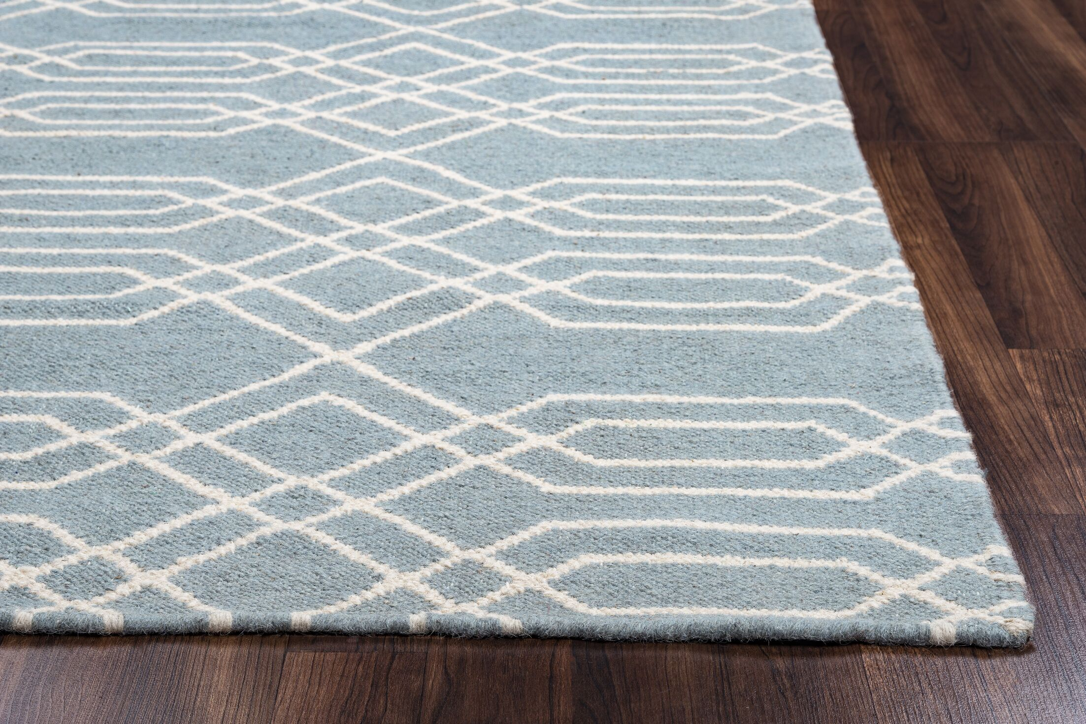 Libby Blue & Parchment Rug Rug Size: Runner 2'6