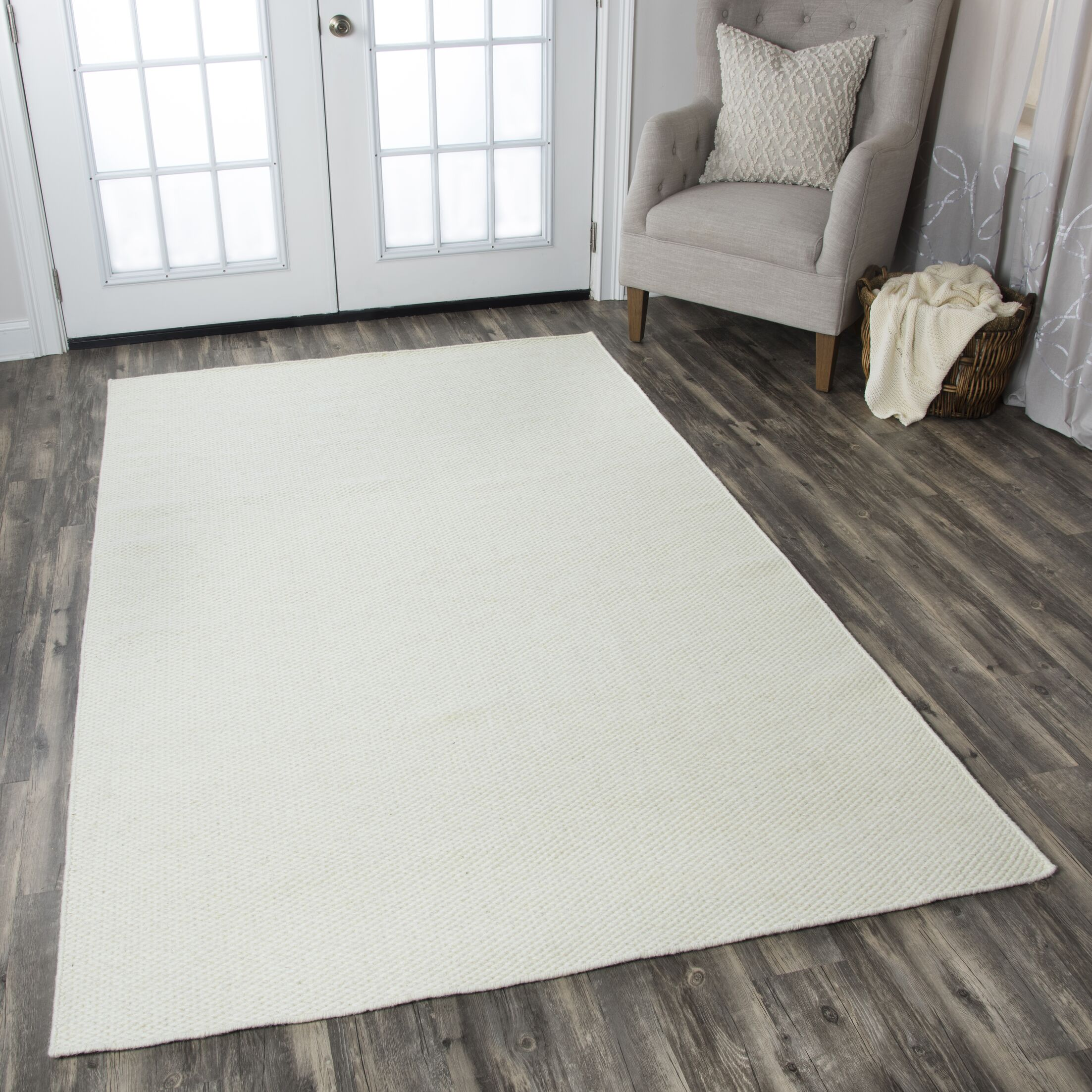 Ava Parchment Solid Rug Rug Size: Rectangle 3' x 5'