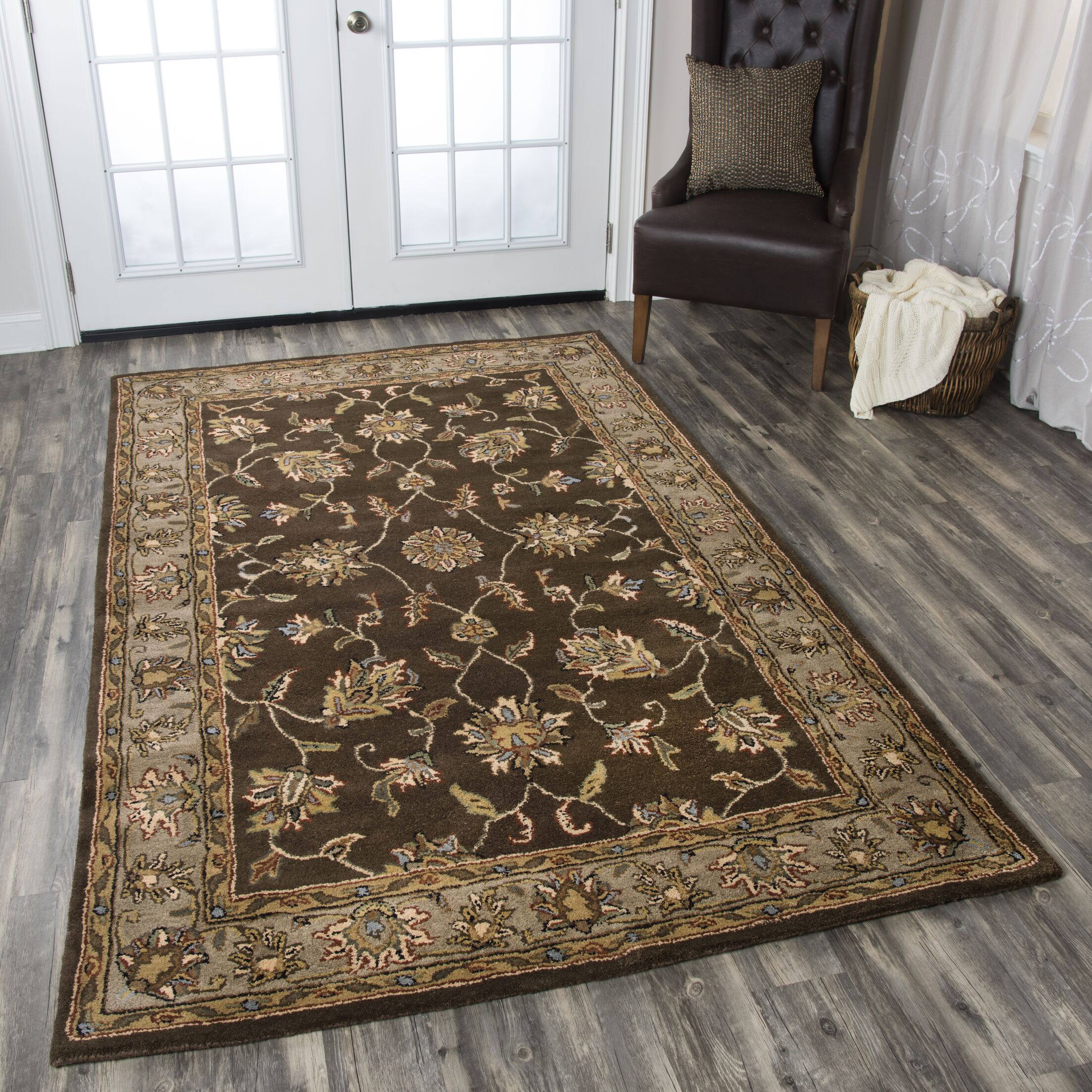 Riley Mocha Rug Rug Size: Rectangle 3' x 5'