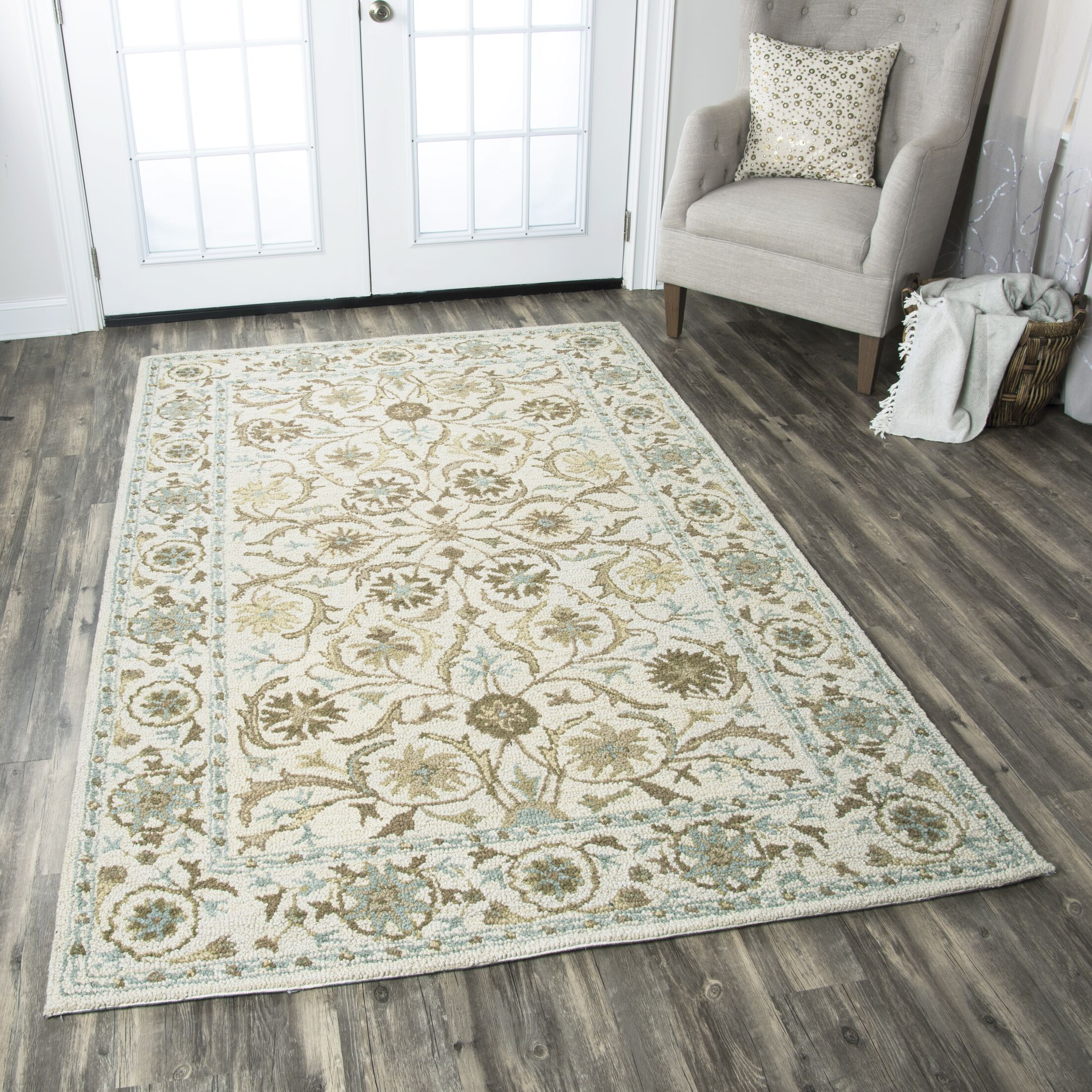 Suzanne Tufted Wool Area Rug Rug Size: Rectangle 8' x 10'