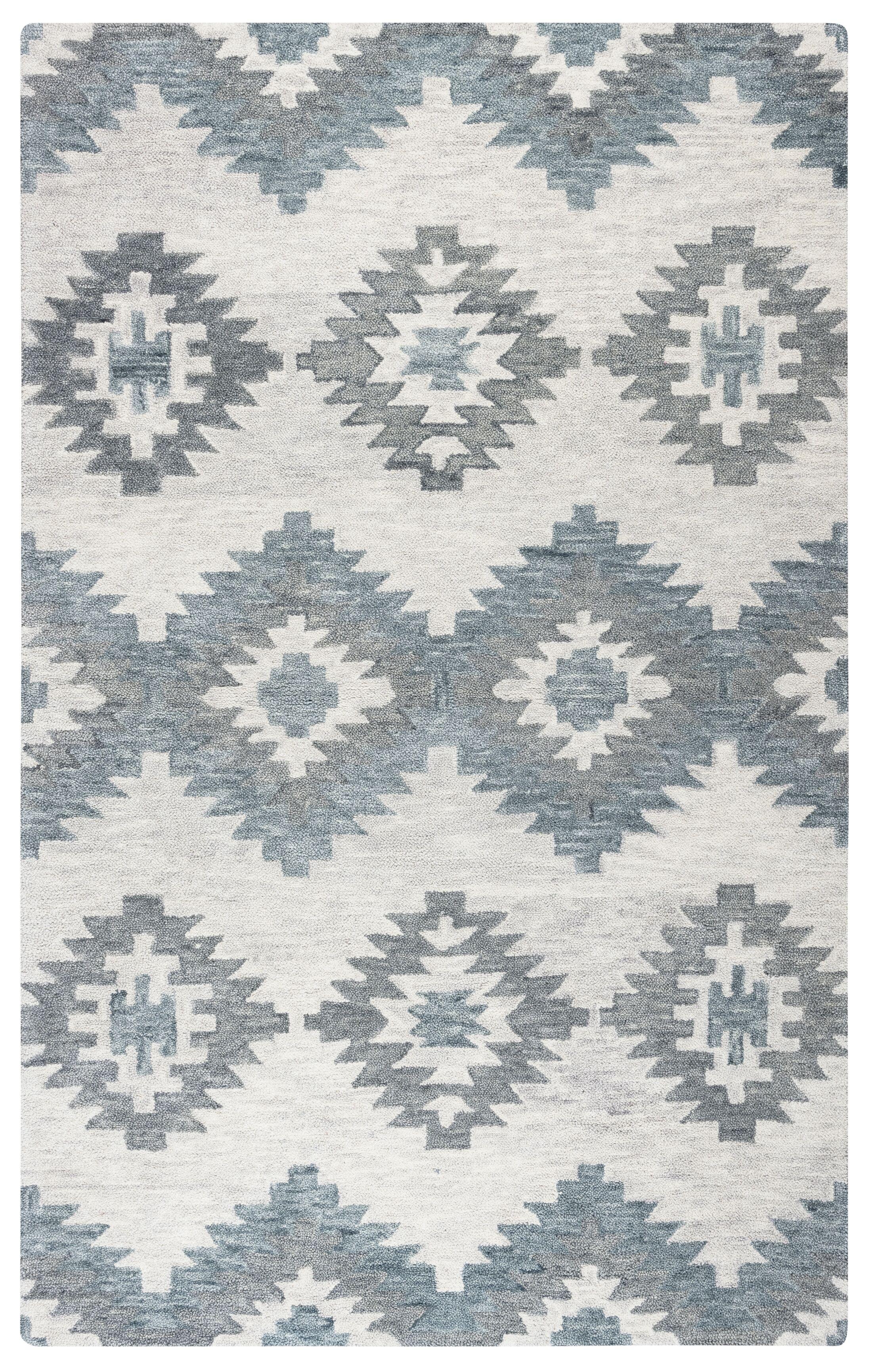 Brandon Gray Hand-Woven Wool Area Rug Rug Size: Rectangle 9' x 12'