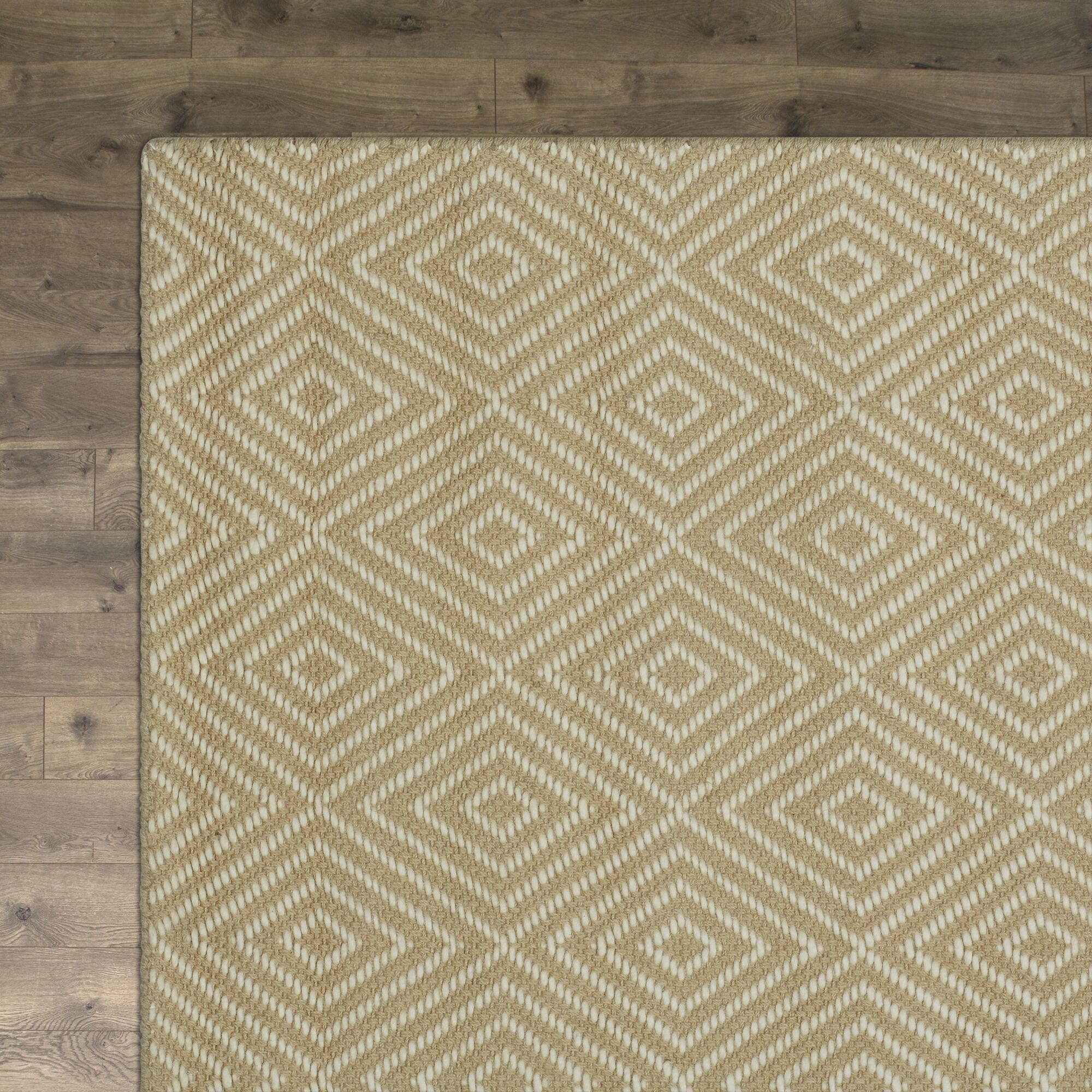 Kris Hand-Woven Taupe Area Rug Rug Size: Rectangle 4' x 6'