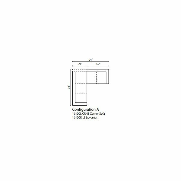 Jameson Upholstered Symmetrical Sectional Upholstery: Oakley Graphite