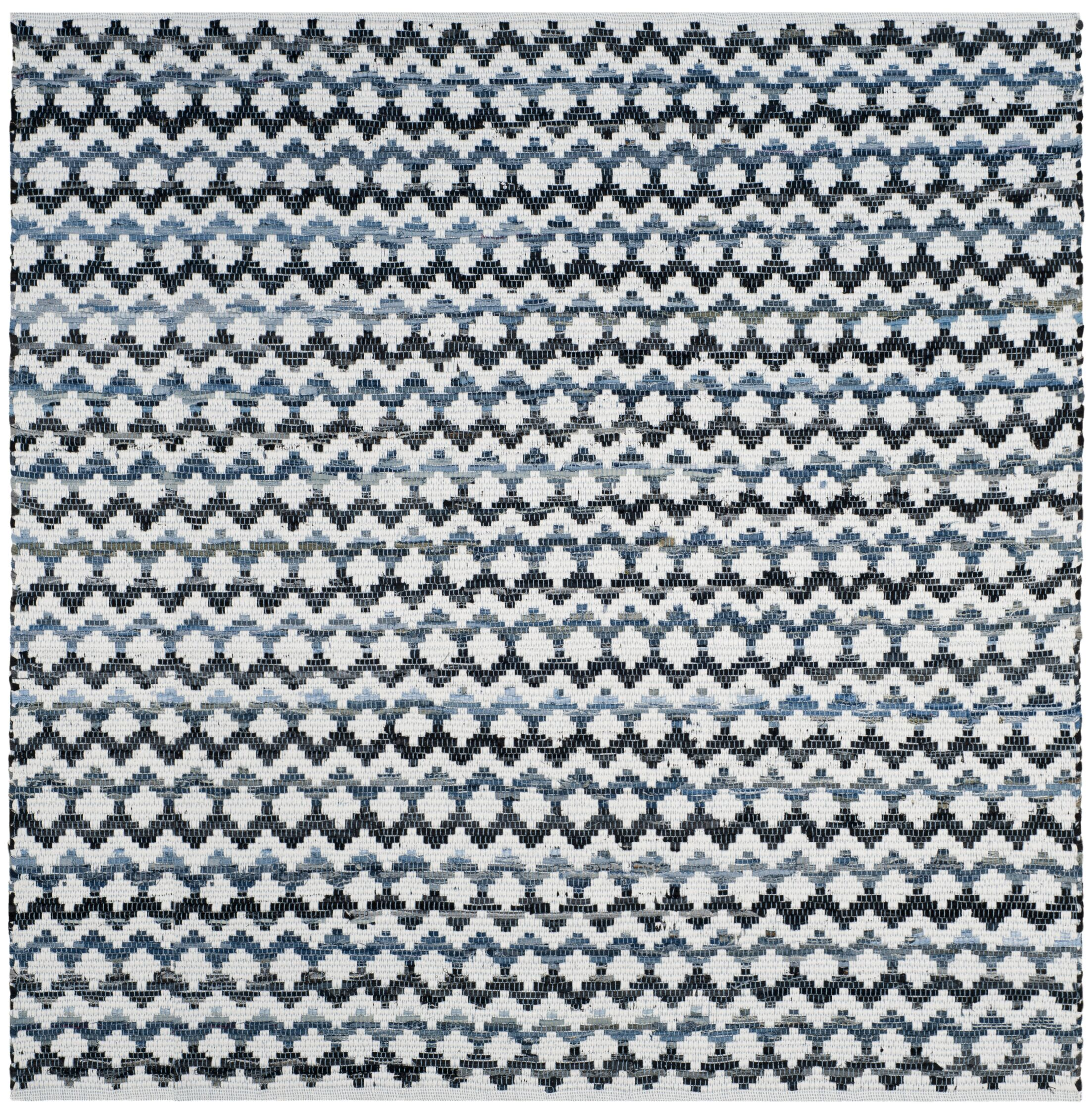 Layne Hand-Woven Cotton Area Rug Rug Size: Square 6'