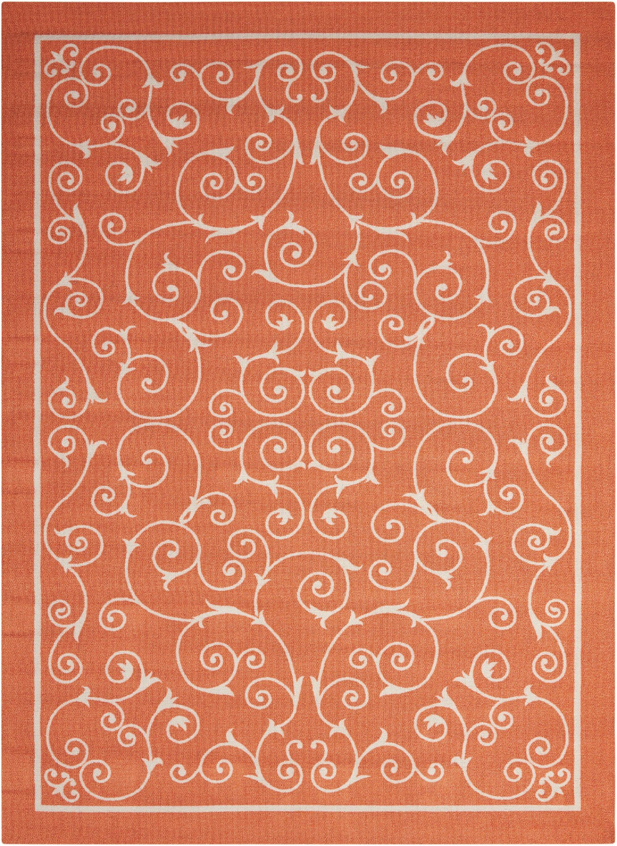 Oscar Orange Indoor/Outdoor Area Rug Rug Size: Rectangle 5'3