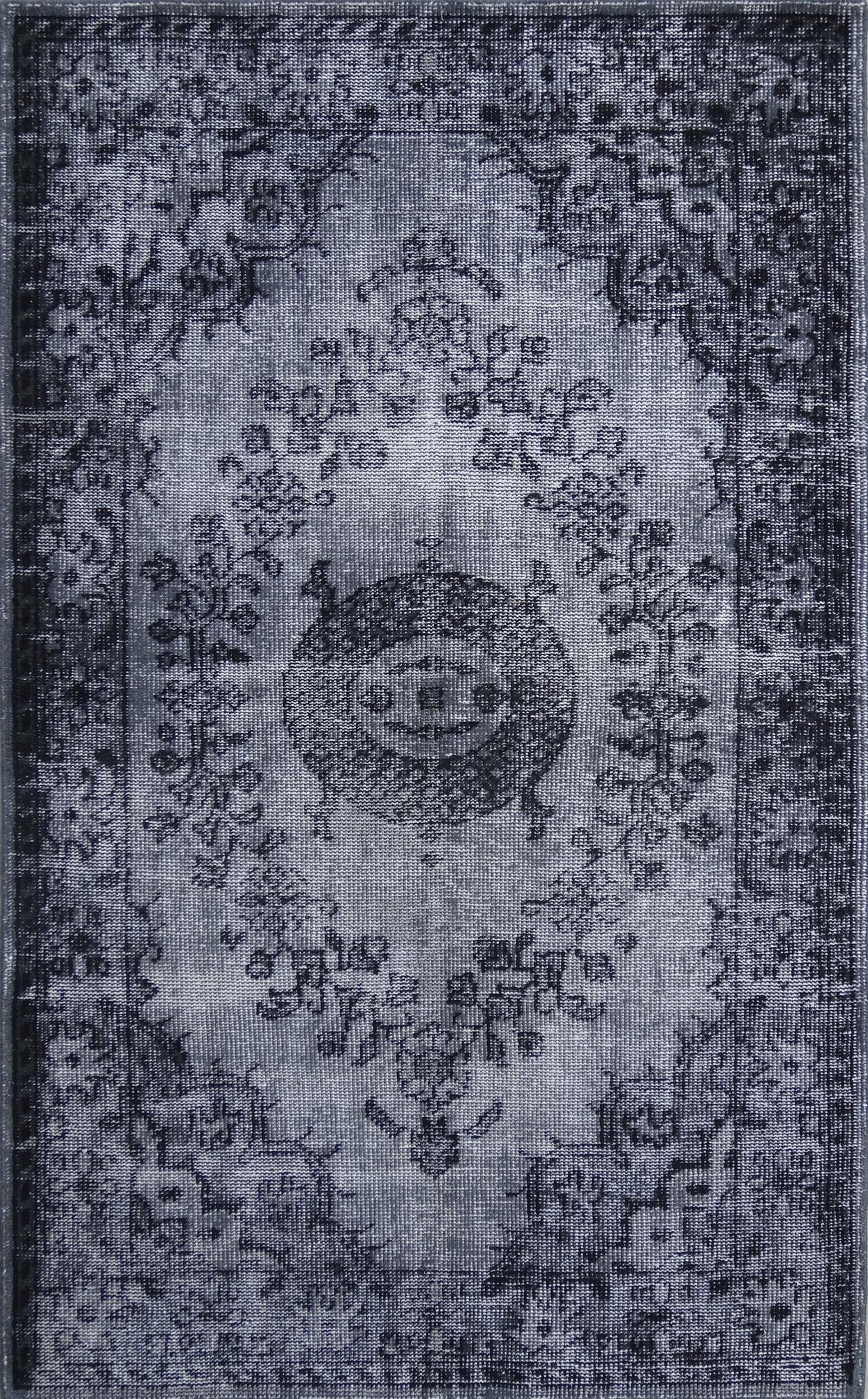 Istanbul Dark Gray Area Rug Rug Size: 7'9