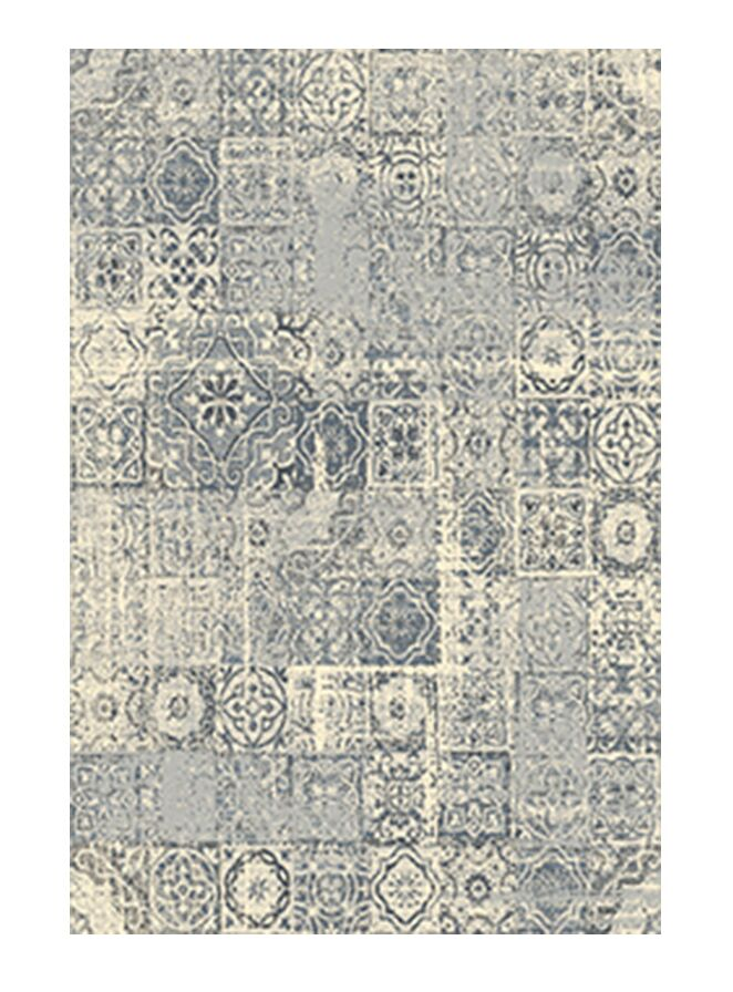 Cosmopolitain Ivory/Gray Area Rug Rug Size: 7'9