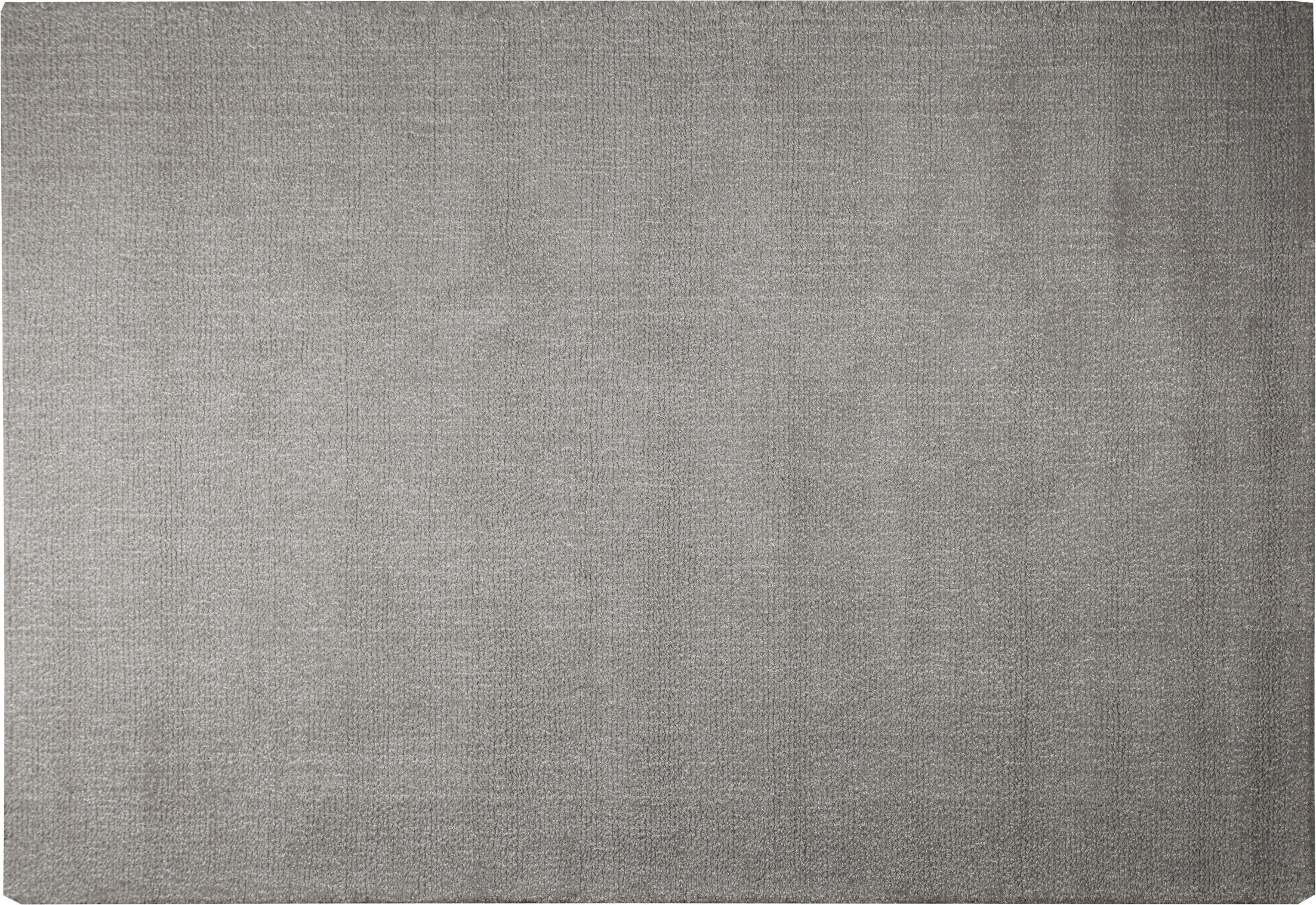 Angora Hand-Woven Gray Area Rug Rug Size: 5'2