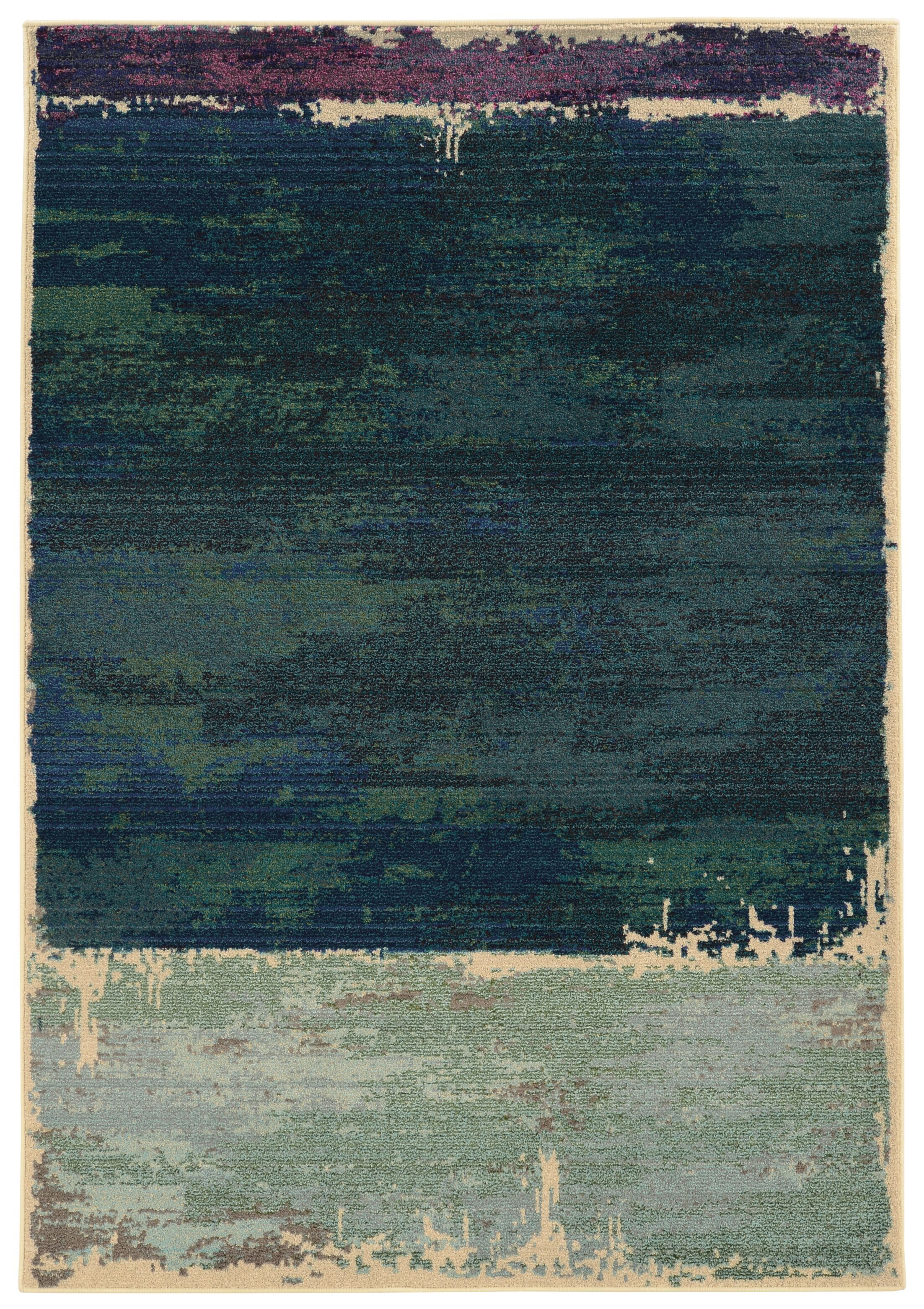 Expressions Abstract Green Area Rug Rug Size: Rectangle 9'9