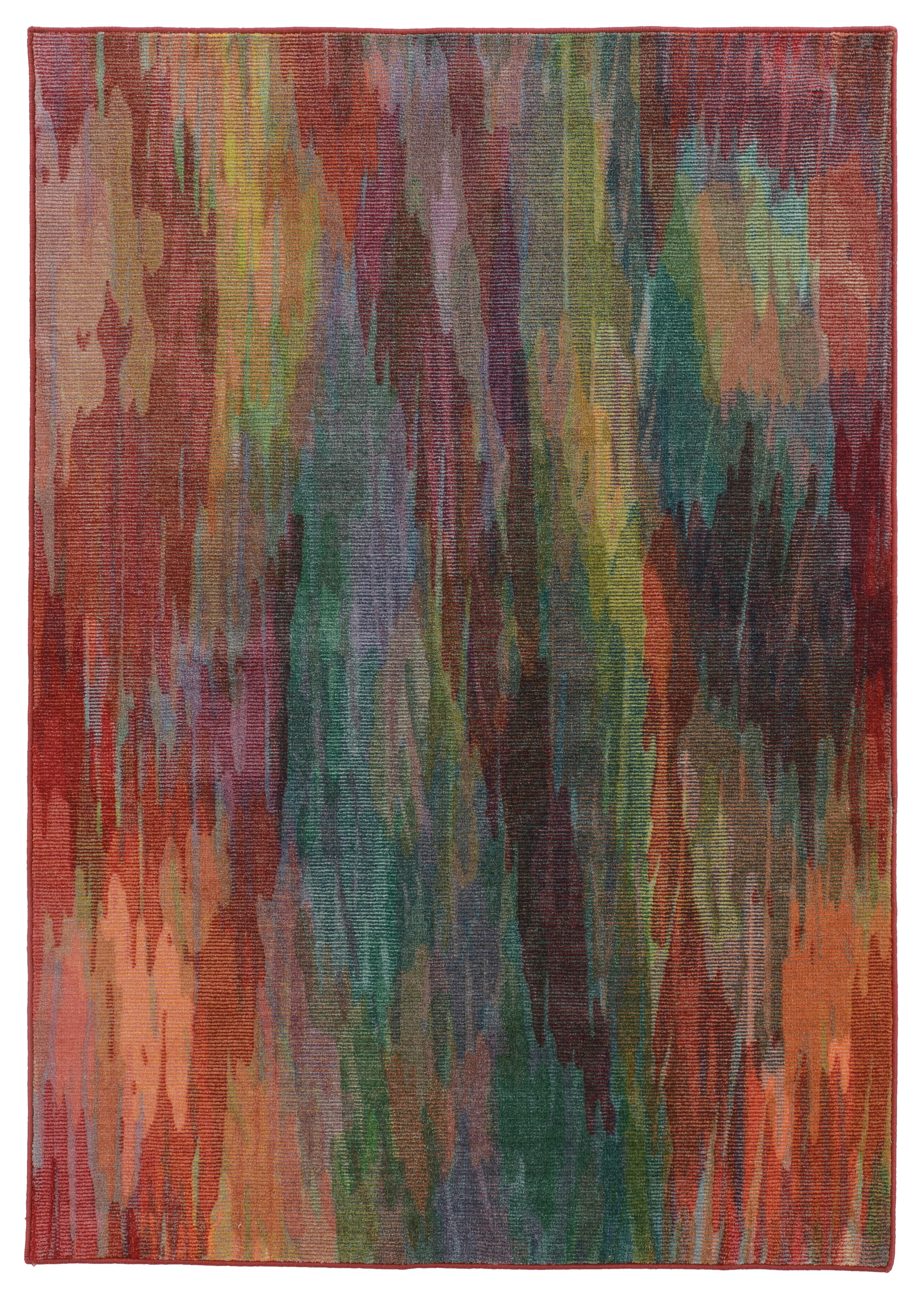 Prismatic Abstract Red Area Rug Rug Size: Rectangle 9'8