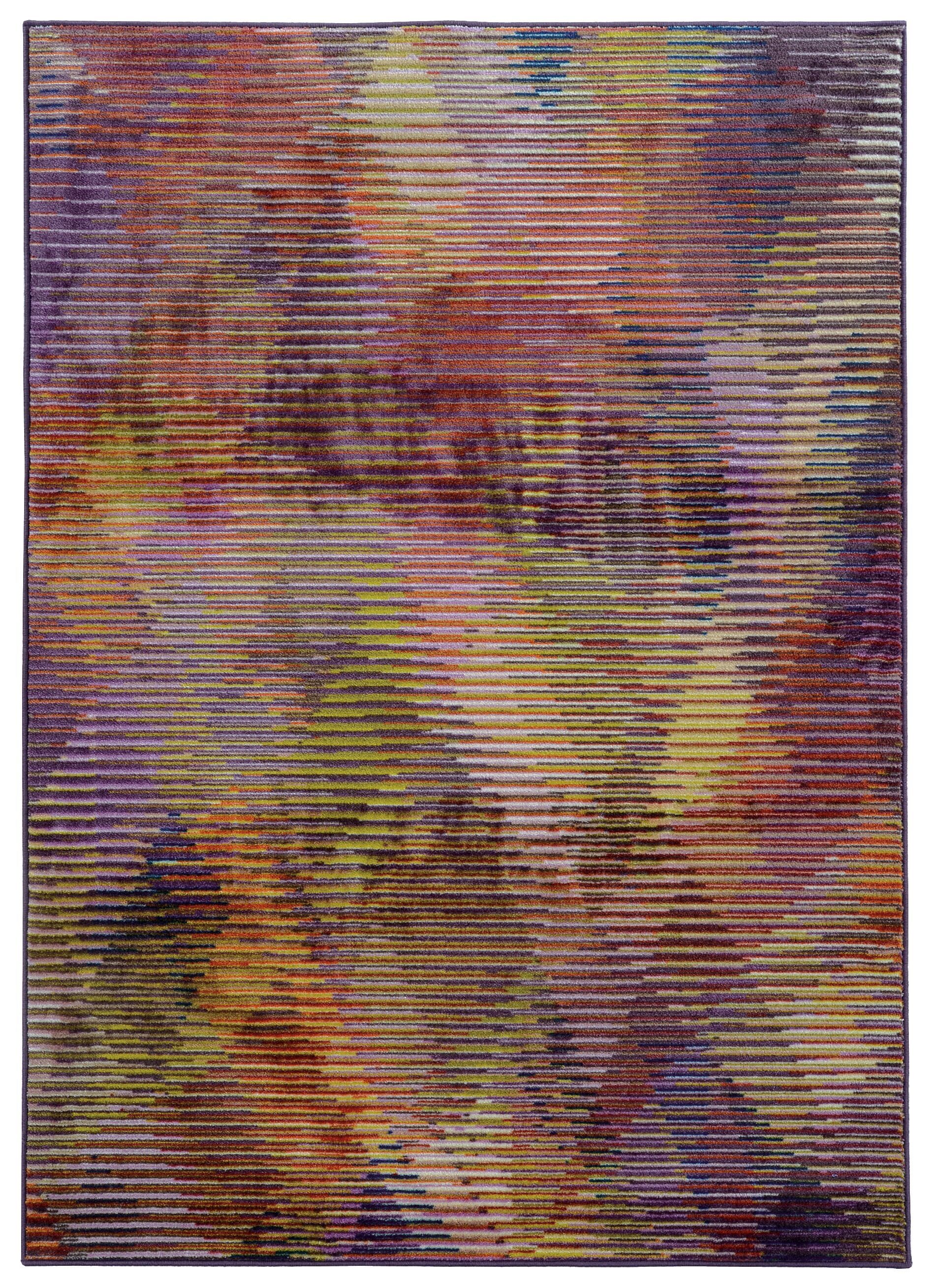 Prismatic Abstract Purple & Gold Area Rug Rug Size: Rectangle 3'5
