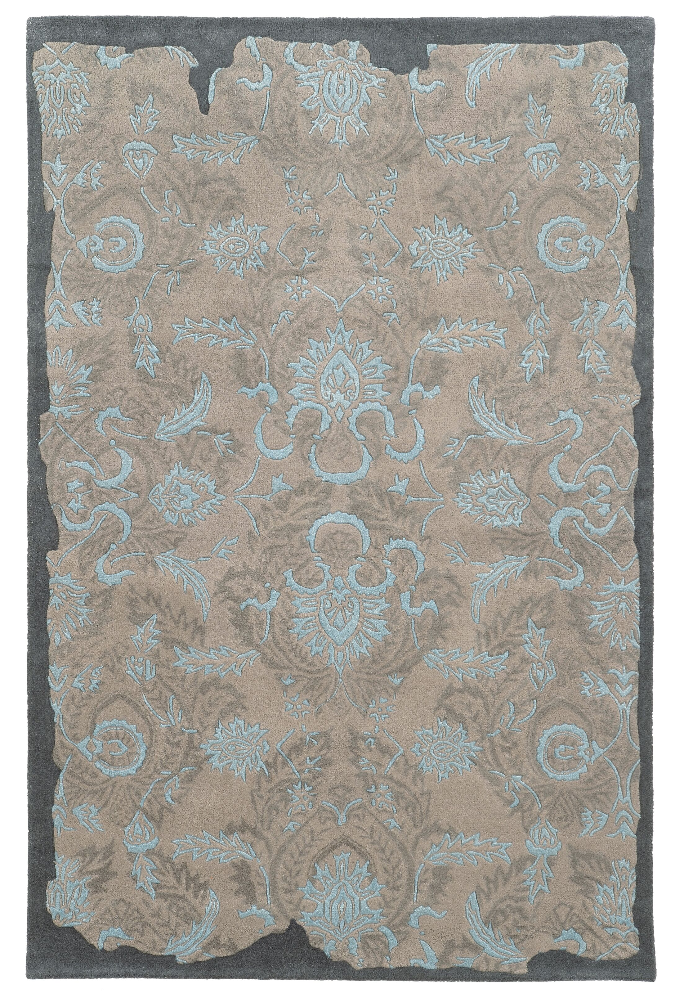Color Influence Distressed Look Grey / Blue Area Rug Rug Size: Runner 2'6