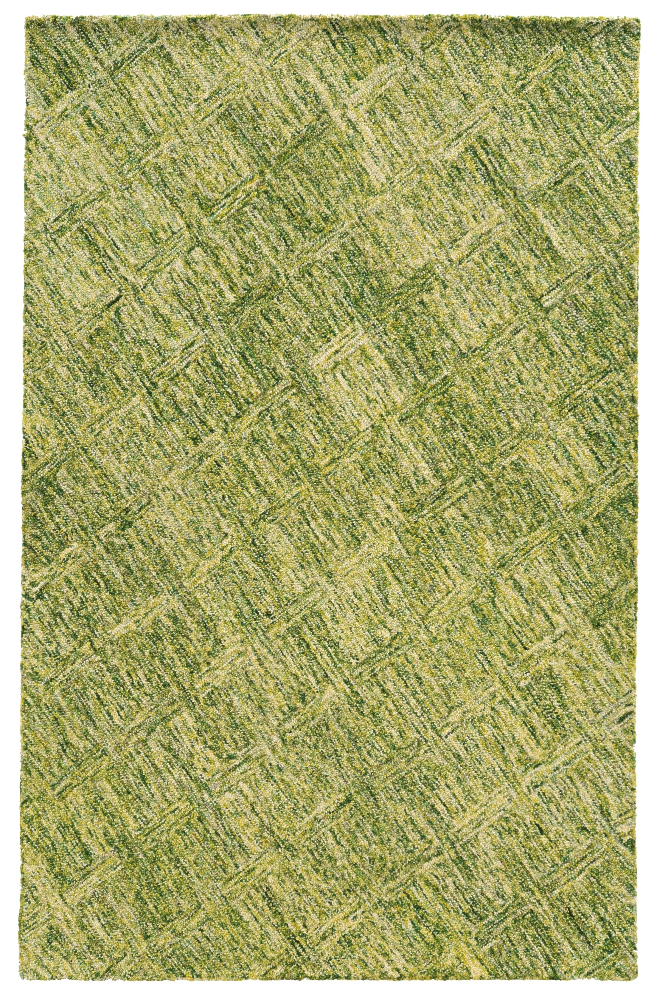 Colorscape Geometric Hand-Tufted Green Area Rug Rug Size: Runner 2'6