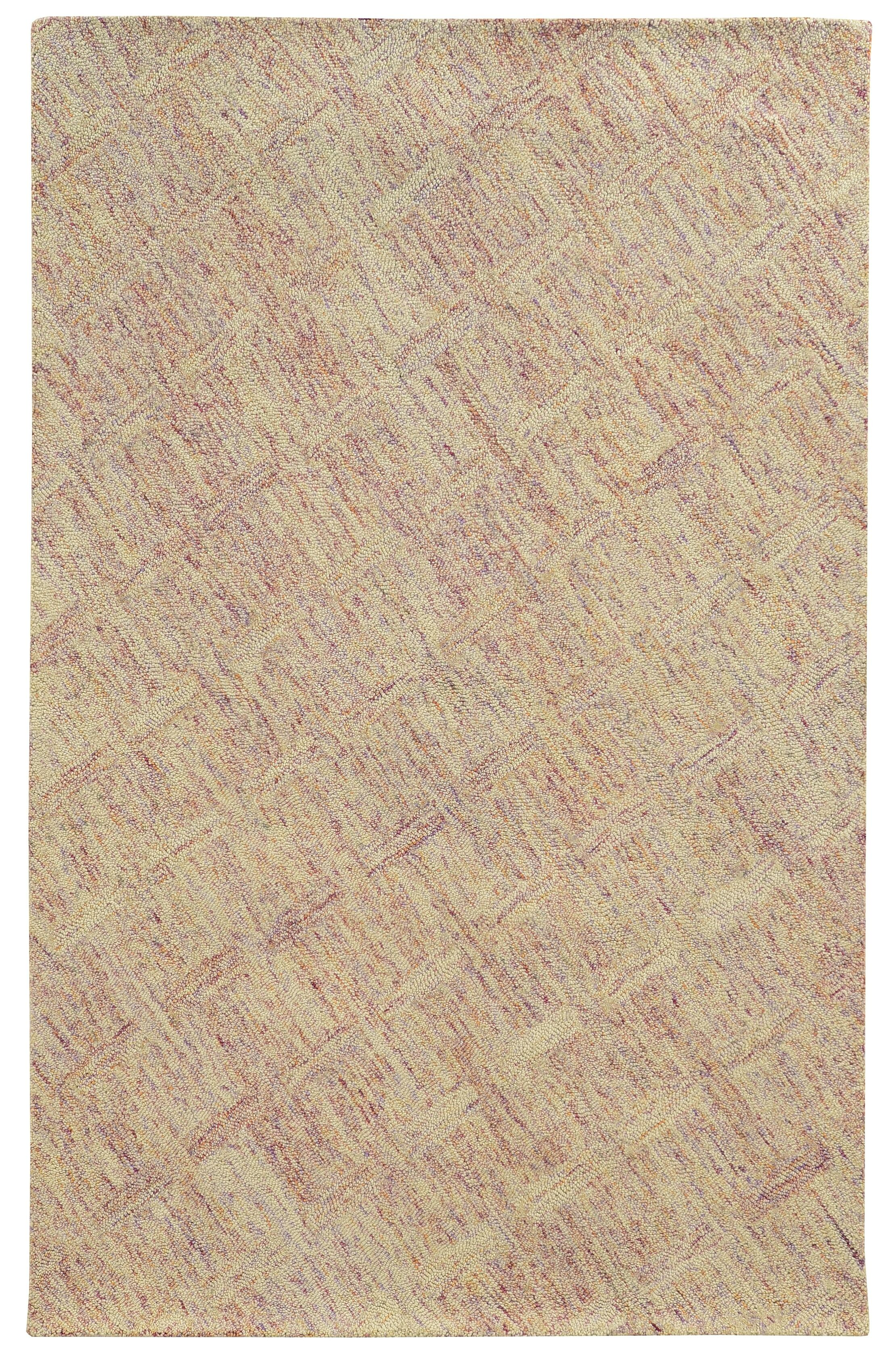 Colorscape Hand-Tufted Geometric Pink/Beige Area Rug Rug Size: Rectangle 8' x 10'