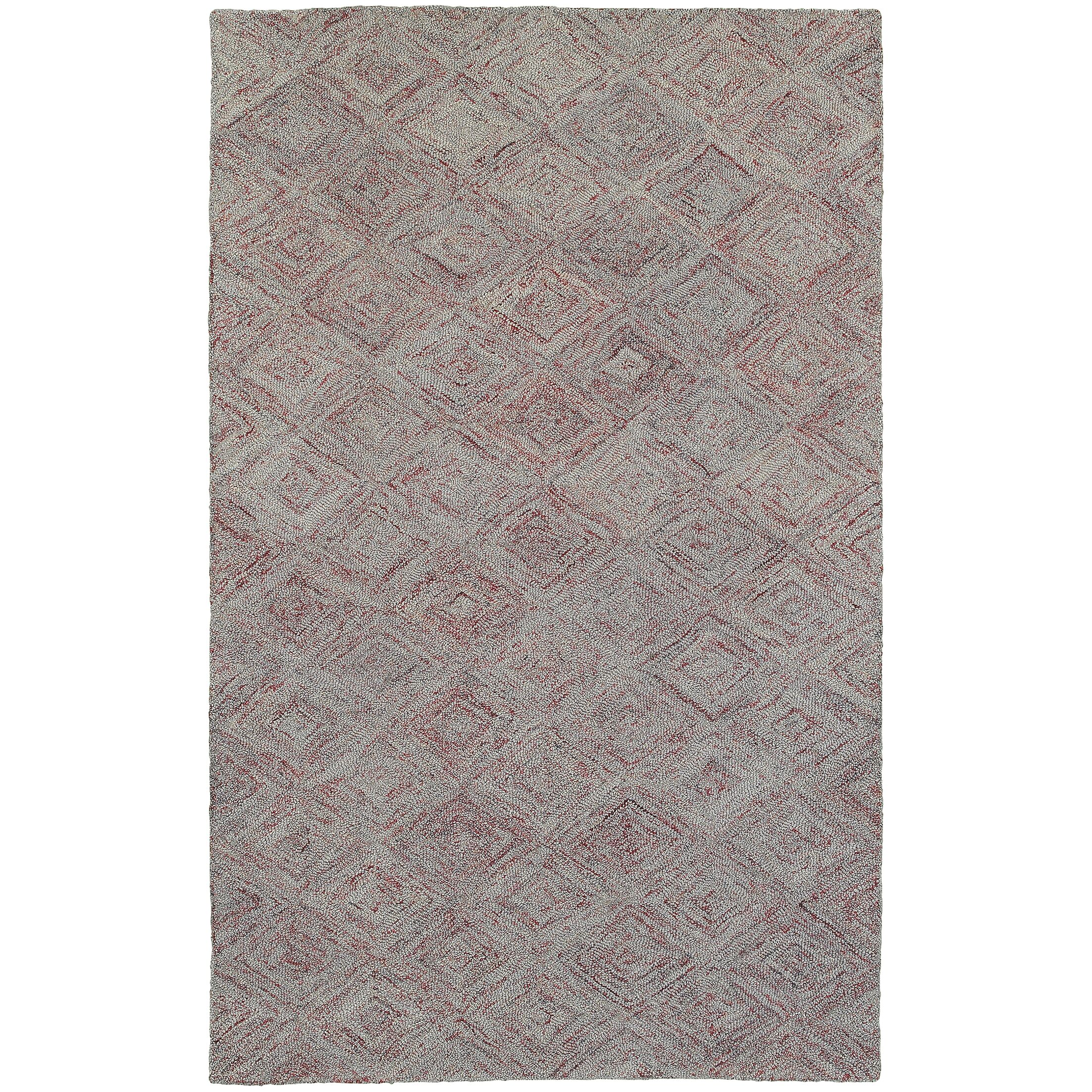 Colorscape Hand-Tufted Geometric Rust/Gray Area Rug Rug Size: Rectangle 5' x 8'