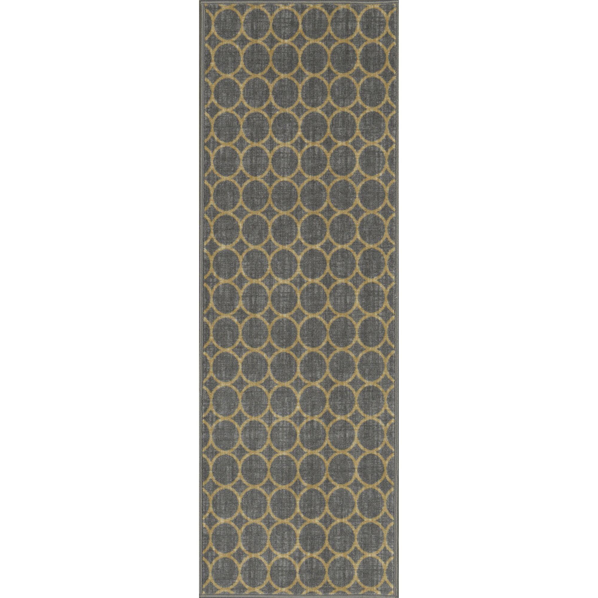 Vathylakas Circles Gray Area Rug Rug Size: 5' x 6'