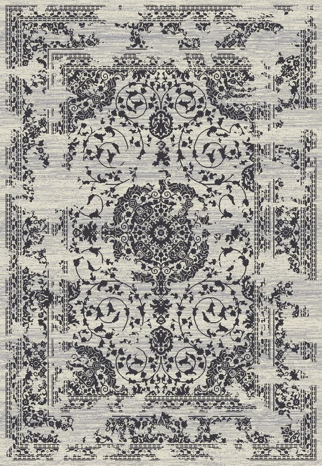 Lamberth Distressed Medallion Rectangle Gray Area Rug Rug Size: 7' 10'' x 9' 10''