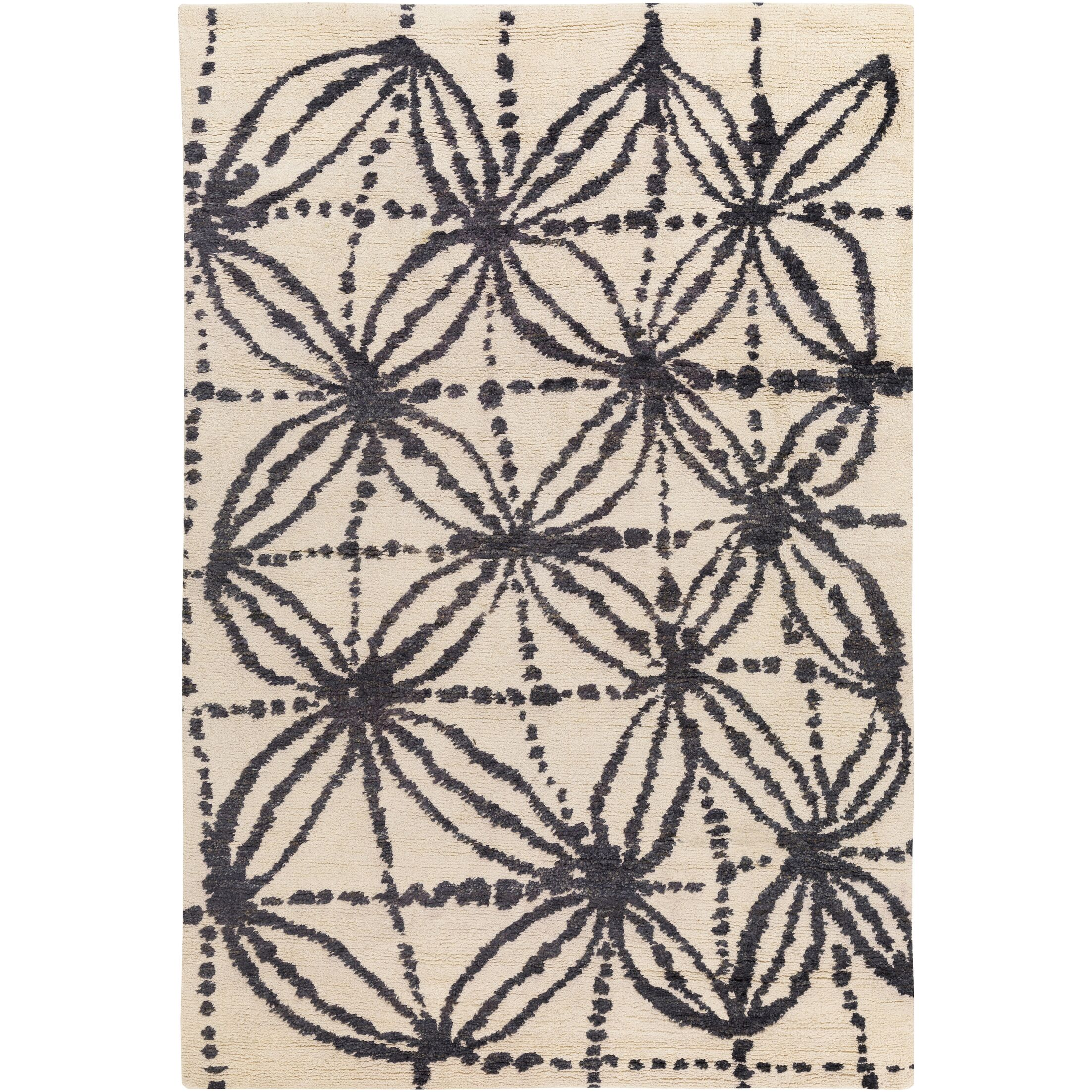 Orinocco Hand-Woven Black/Beige Area Rug Rug Size: Rectangle 2' x 3'