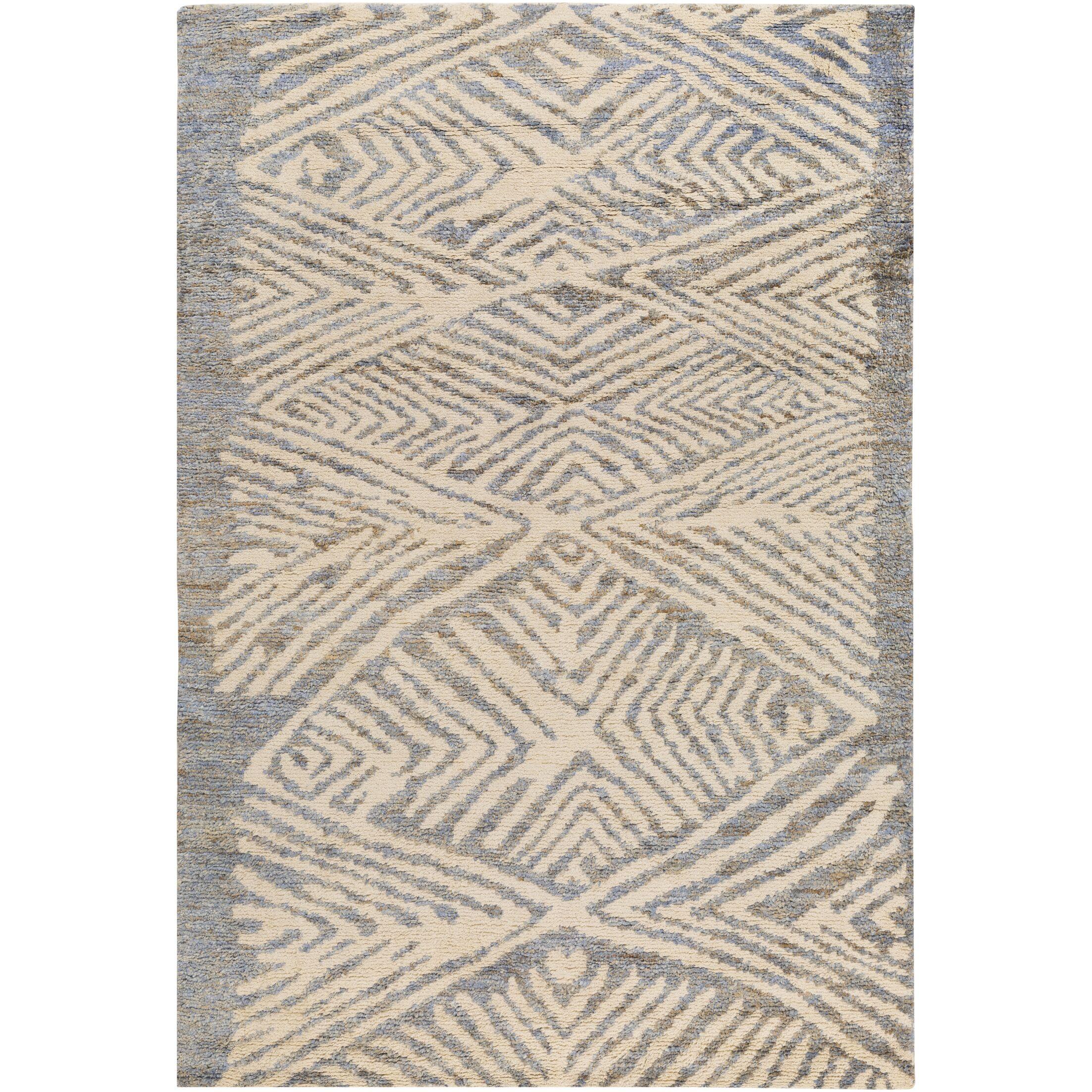 Orinocco Hand-Woven Gray/Beige Area Rug Rug Size: Rectangle 5' x 7'6