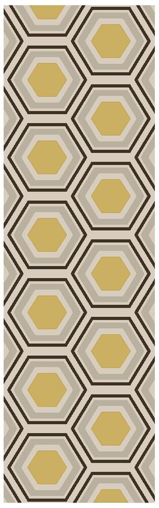 Fallon Hand Woven Wool Beige/Yellow/Black Area Rug Rug Size: Runner 2'6