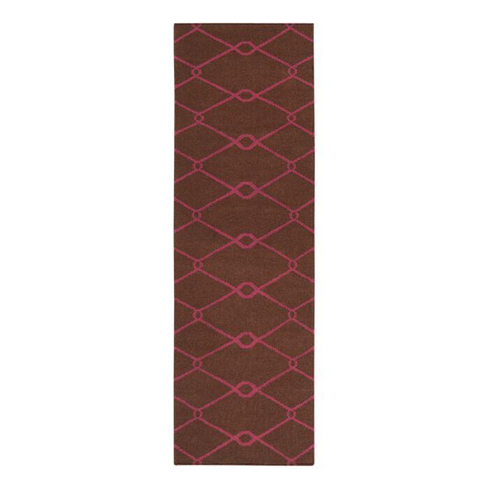 Fallon Hand-Woven Dark Chocolate Area Rug Rug Size: Runner 2'6