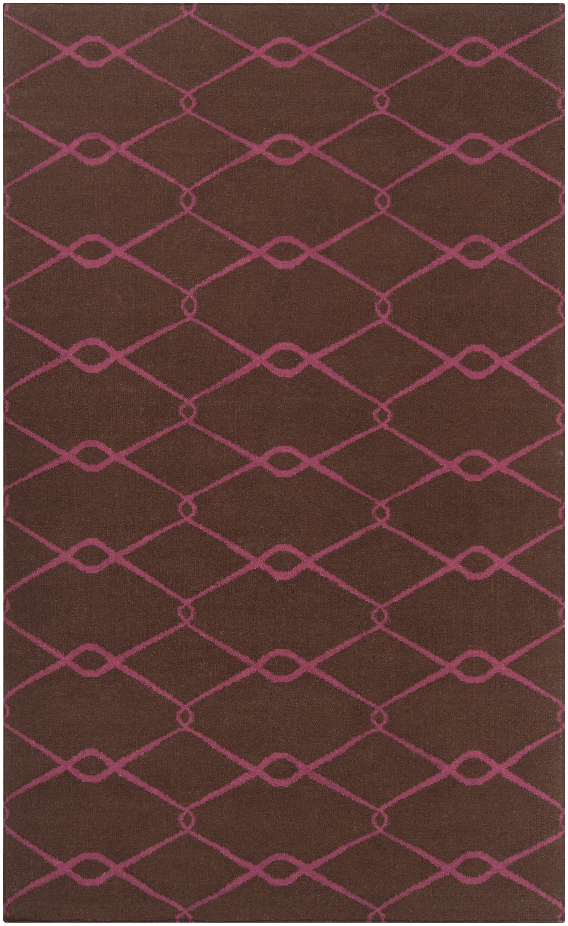 Fallon Hand-Woven Dark Chocolate Area Rug Rug Size: Rectangle 5' x 8'