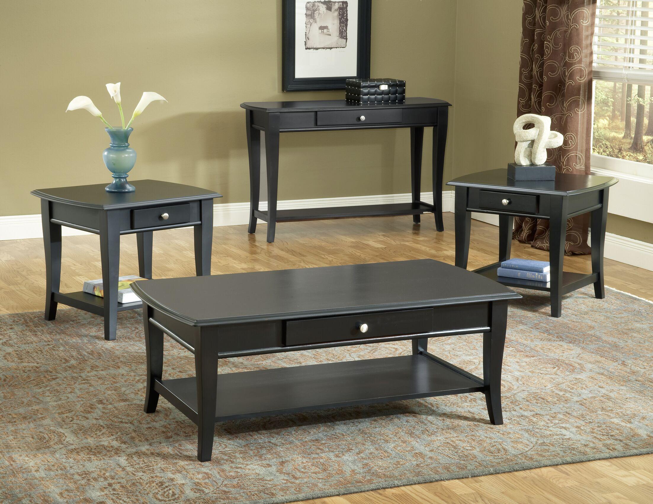 Hefley 3 Piece Coffee Table Set