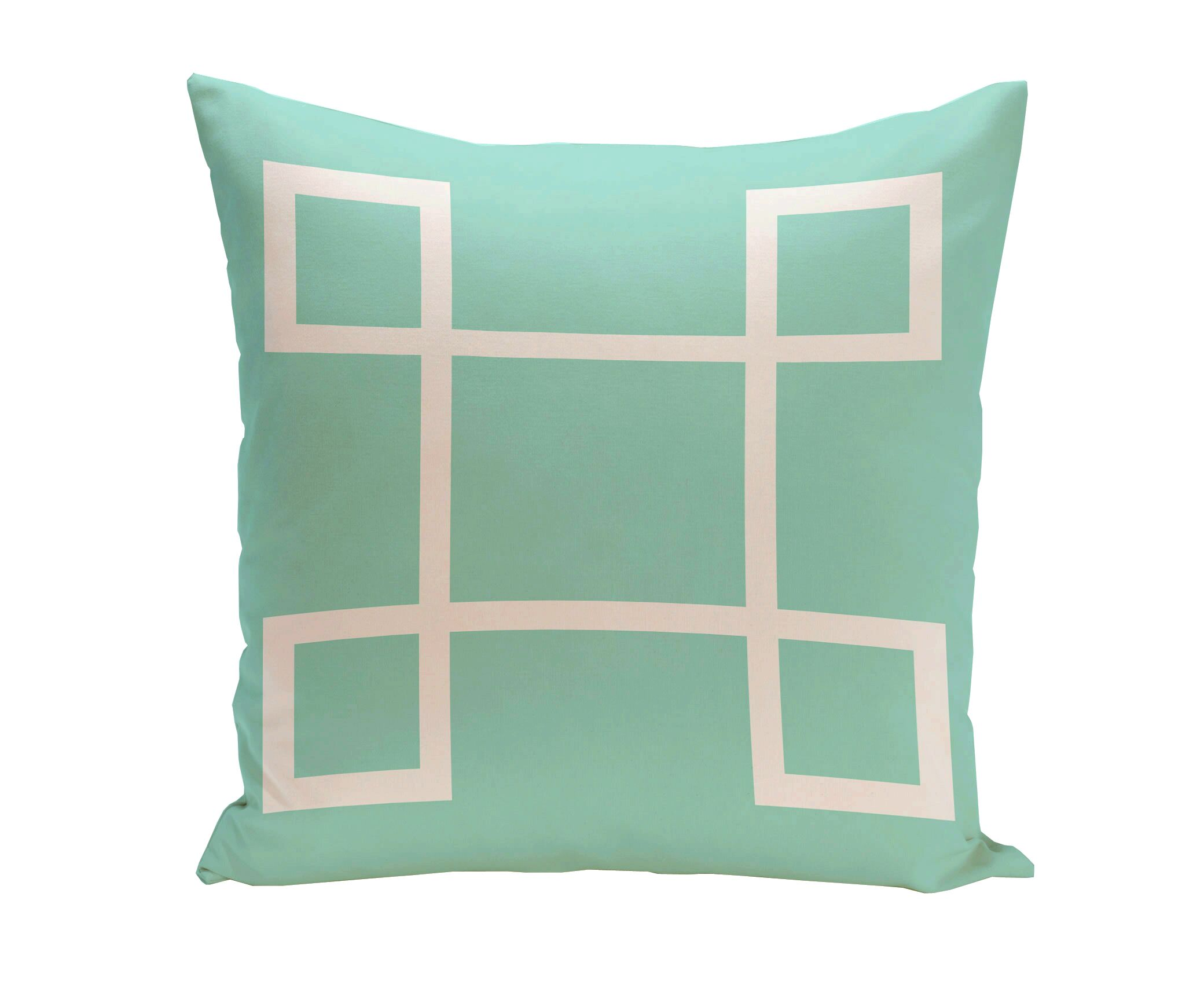 Geometric Down Throw Pillow Color: Aqua, Size: 20
