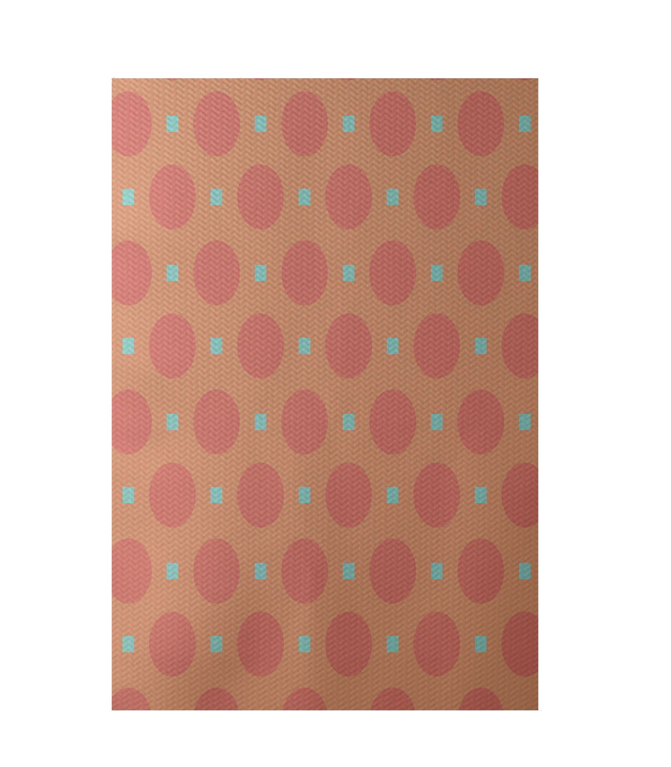 Geometric Coral Indoor/Outdoor Area Rug Rug Size: Rectangle 3' x 5'