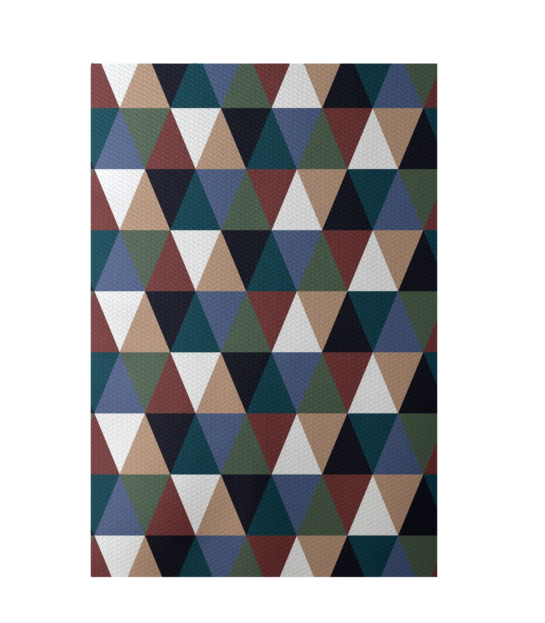 Geometric Rust Indoor/Outdoor Area Rug Rug Size: Rectangle 3' x 5'