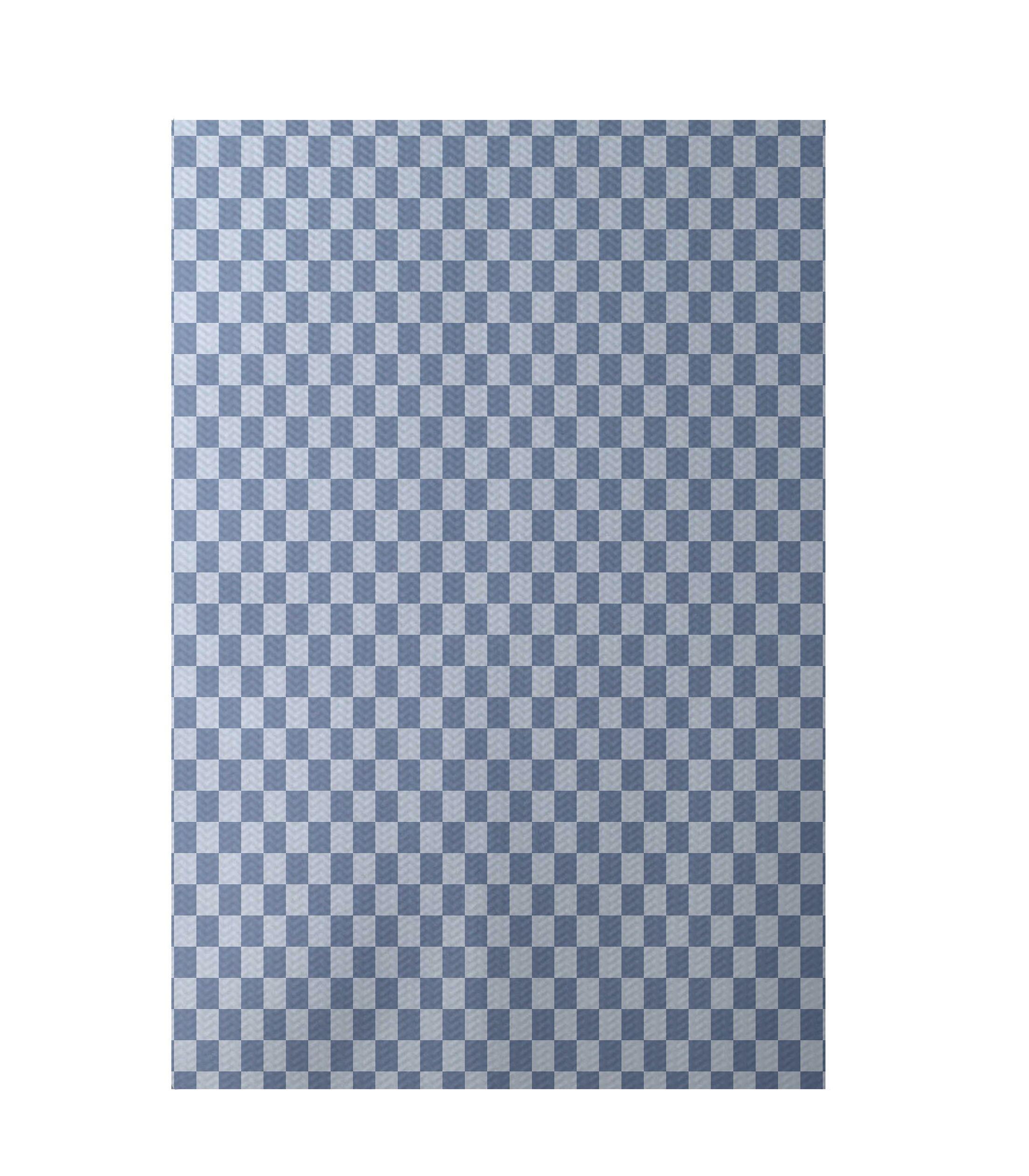 Geometric Light Blue Indoor/Outdoor Area Rug Rug Size: Rectangle 5' x 7'
