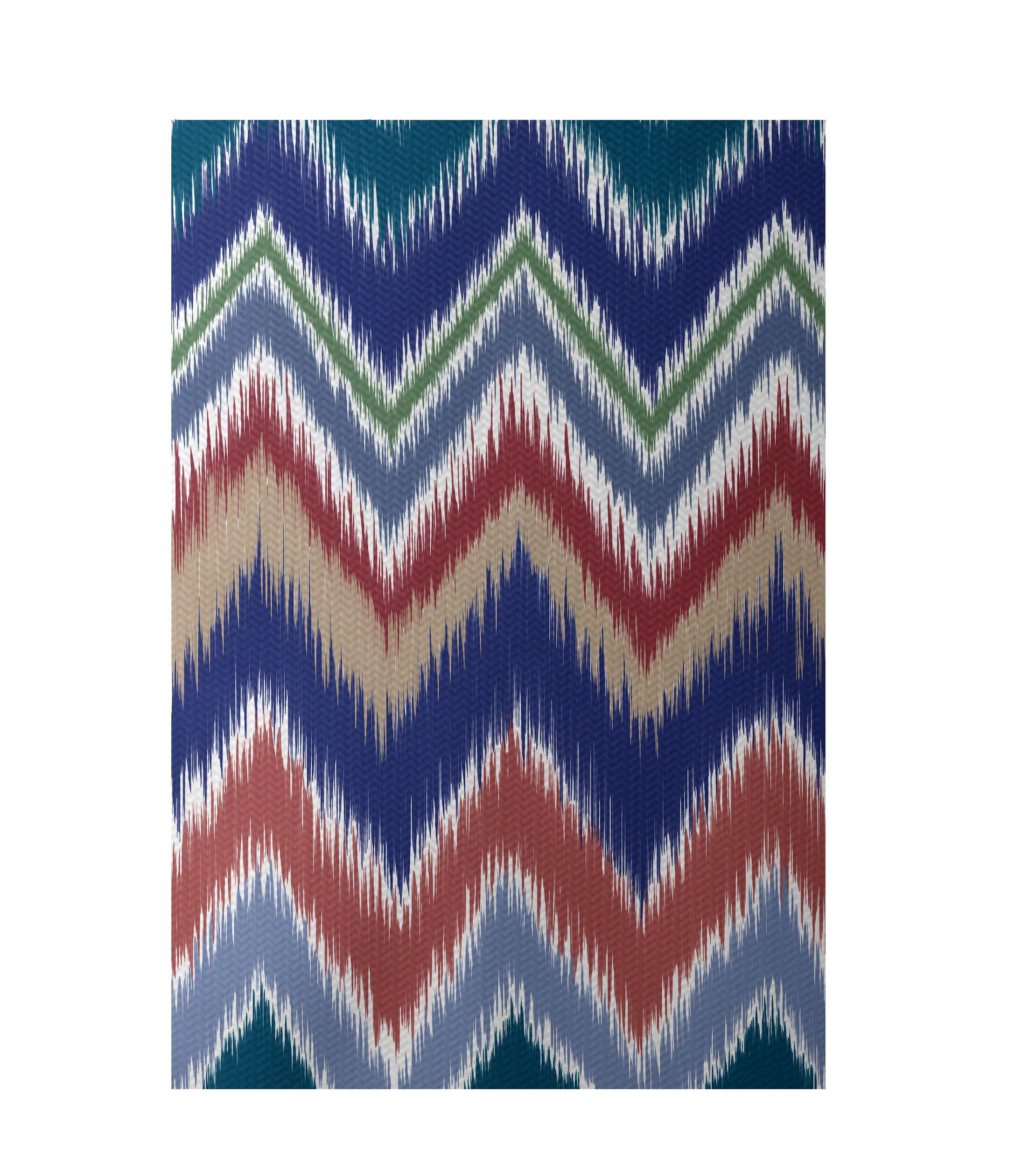 Chevron Hand-Woven Brown/Rust Indoor/Outdoor Area Rug Rug Size: Rectangle 3' x 5'