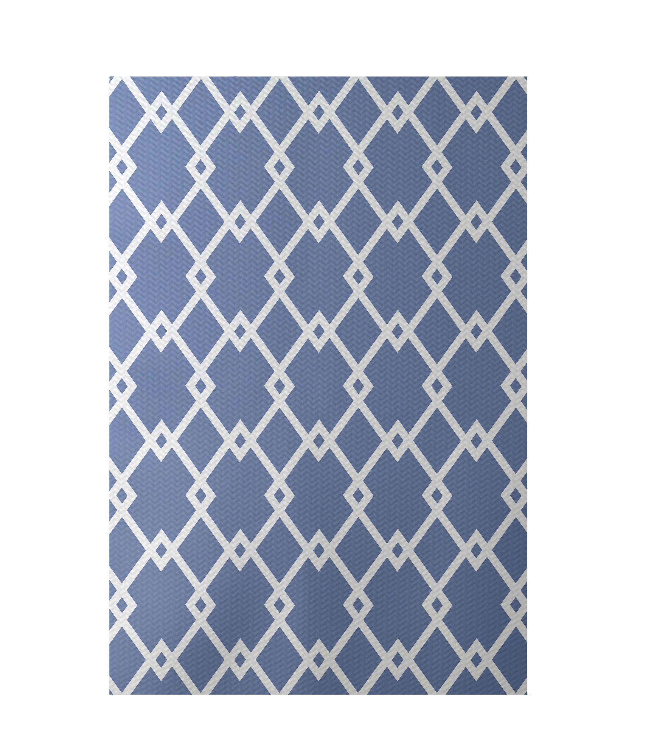 Geometric Light Blue Indoor/Outdoor Area Rug Rug Size: Rectangle 3' x 5'
