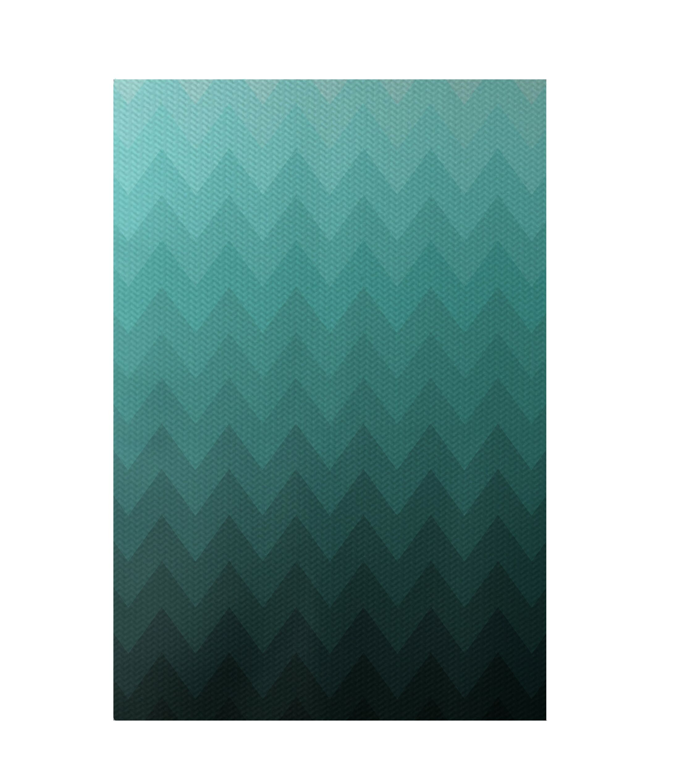 Chevron Aqua Indoor/Outdoor Area Rug Rug Size: Rectangle 2' x 3'
