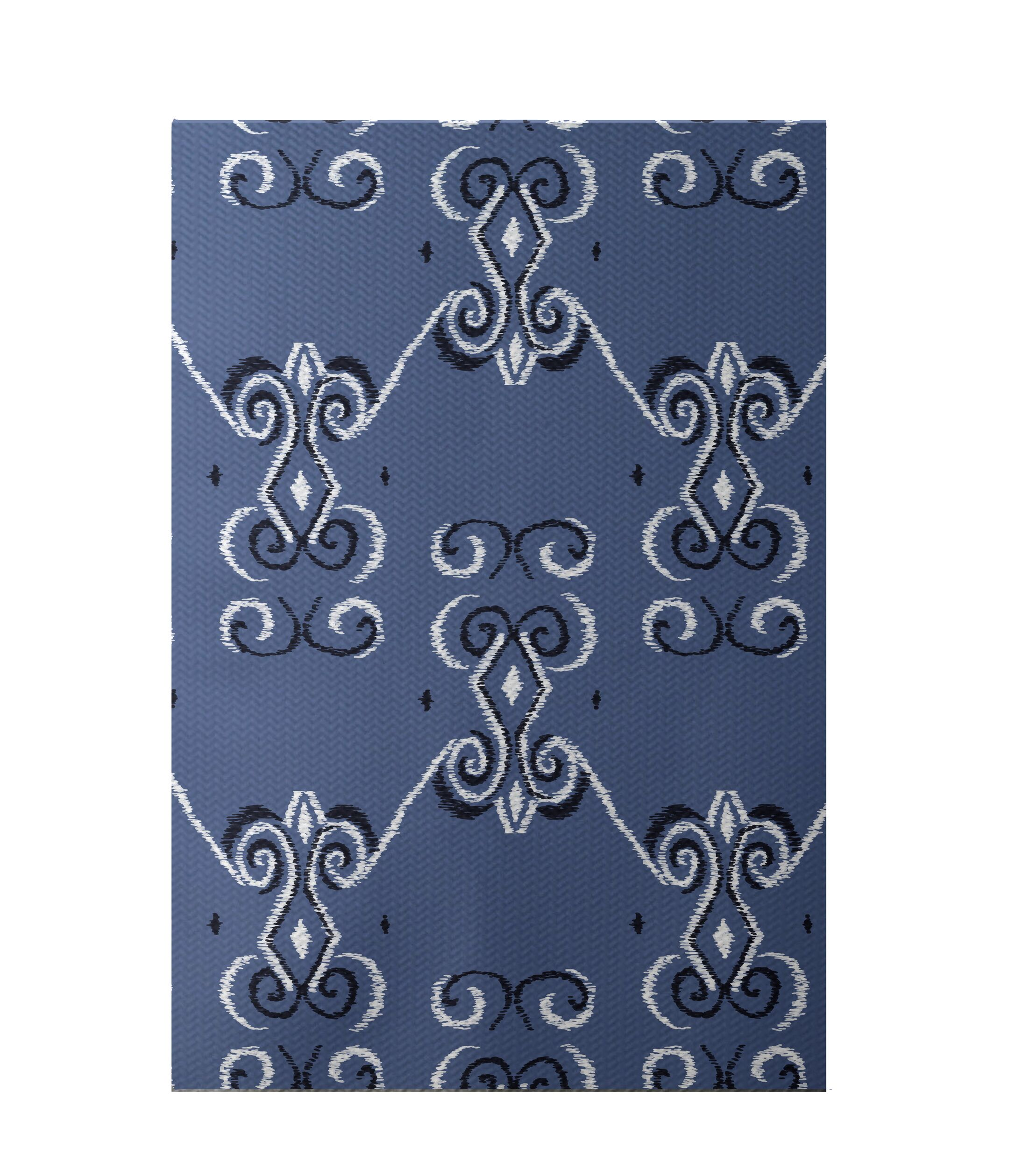On the Line Print Cadet Indoor/Outdoor Area Rug Rug Size: Rectangle 3' x 5'