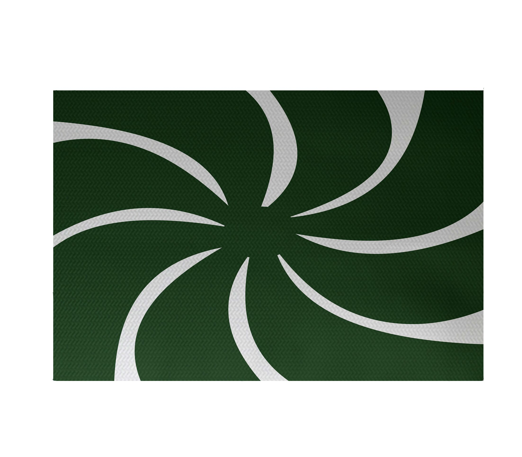 Decorative Holiday Geometric Print Dark Green Indoor/Outdoor Area Rug Rug Size: Rectangle 3' x 5'