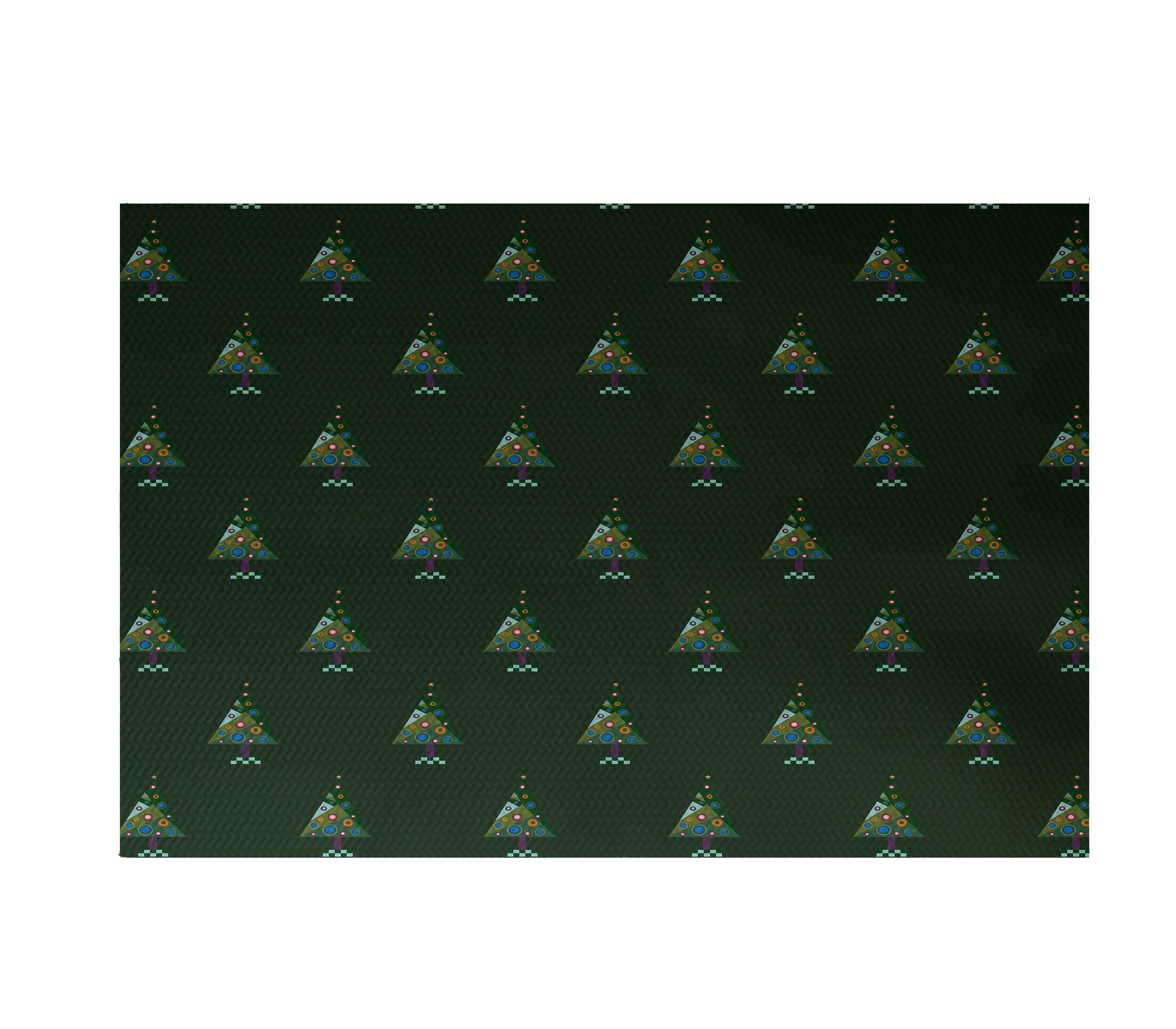 Crazy Christmas Decorative Holiday Print Dark Green Indoor/Outdoor Area Rug Rug Size: Rectangle 3' x 5'