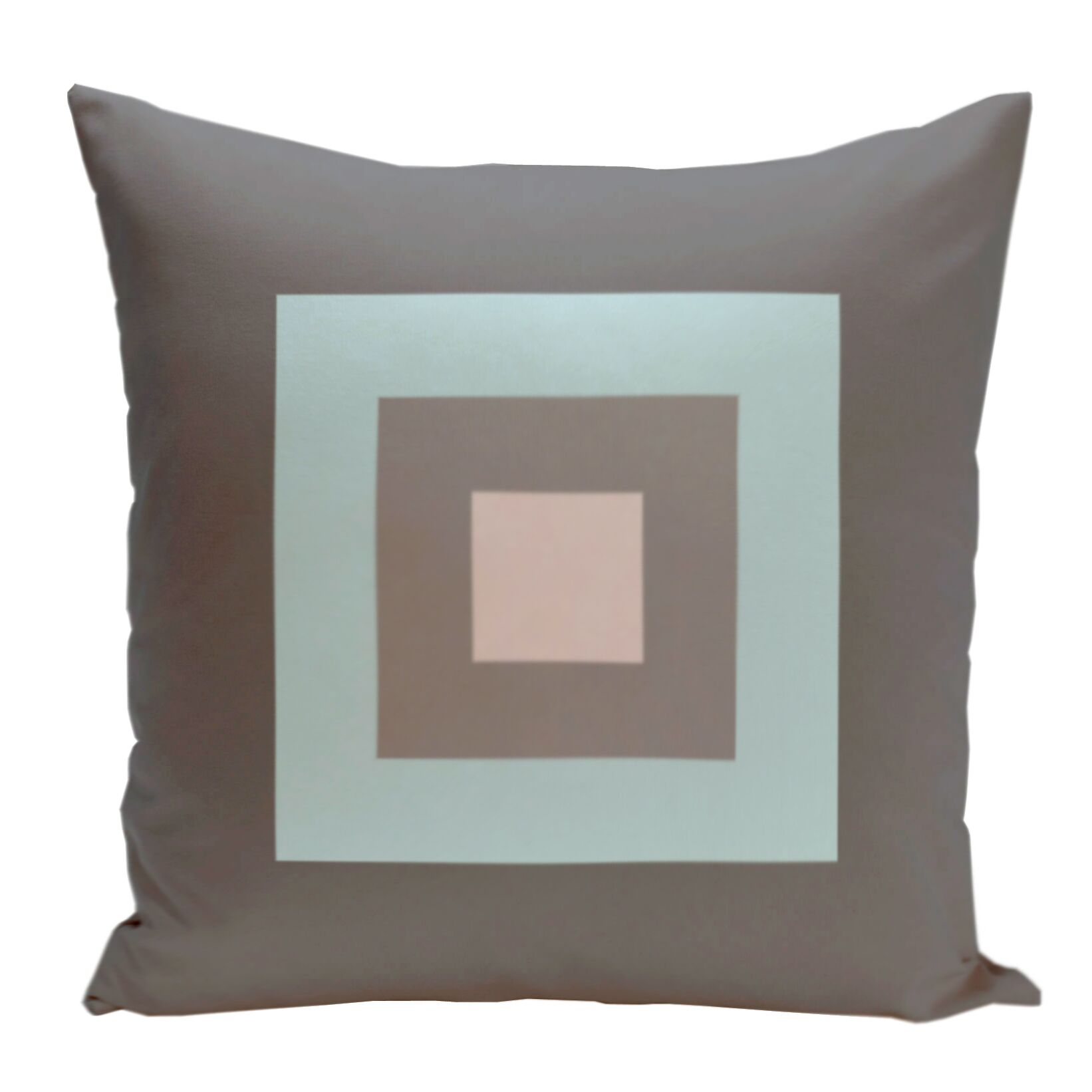 Geometric Decorative Down Throw Pillow Size: 18