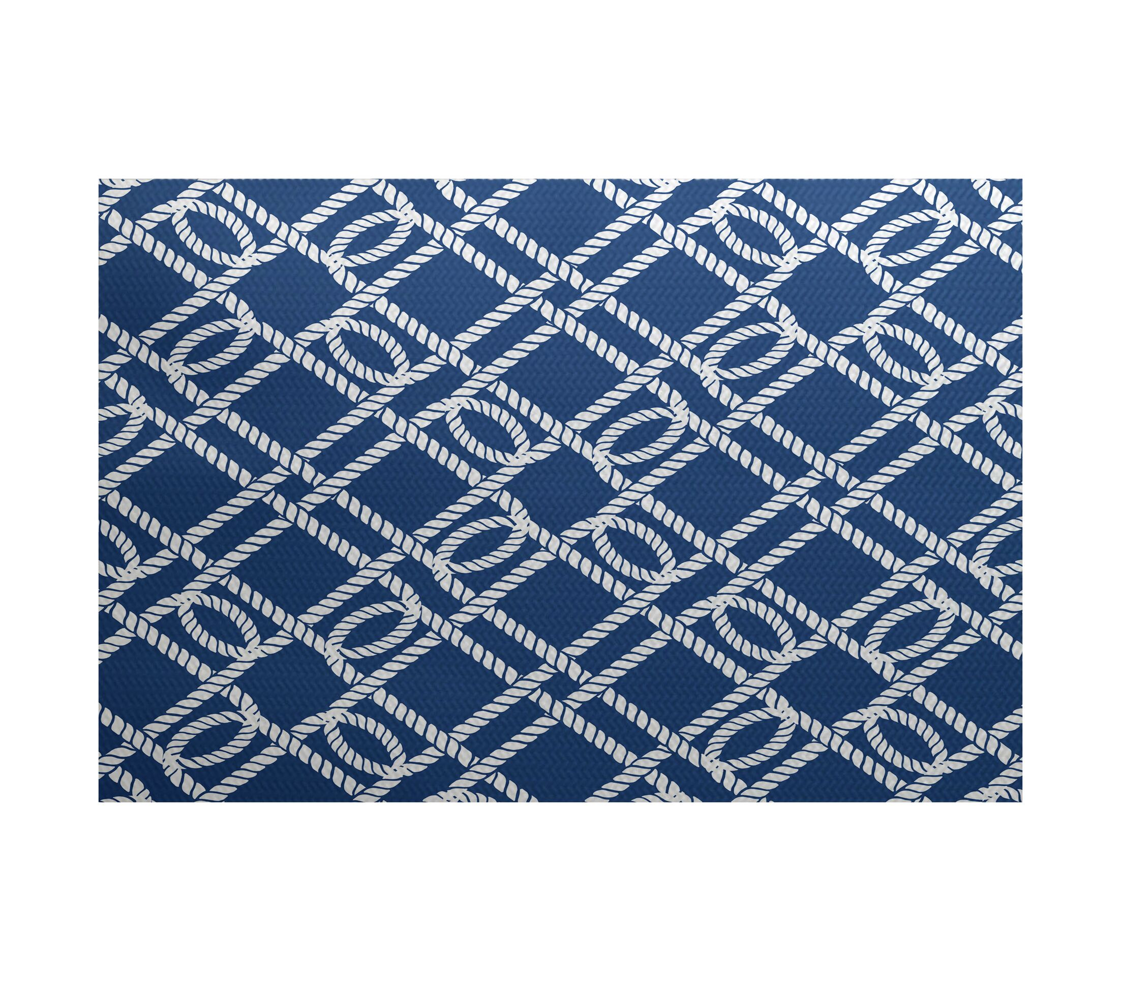 Bridgeport Blue Indoor/Outdoor Area Rug Rug Size: Rectangle 3' x 5'