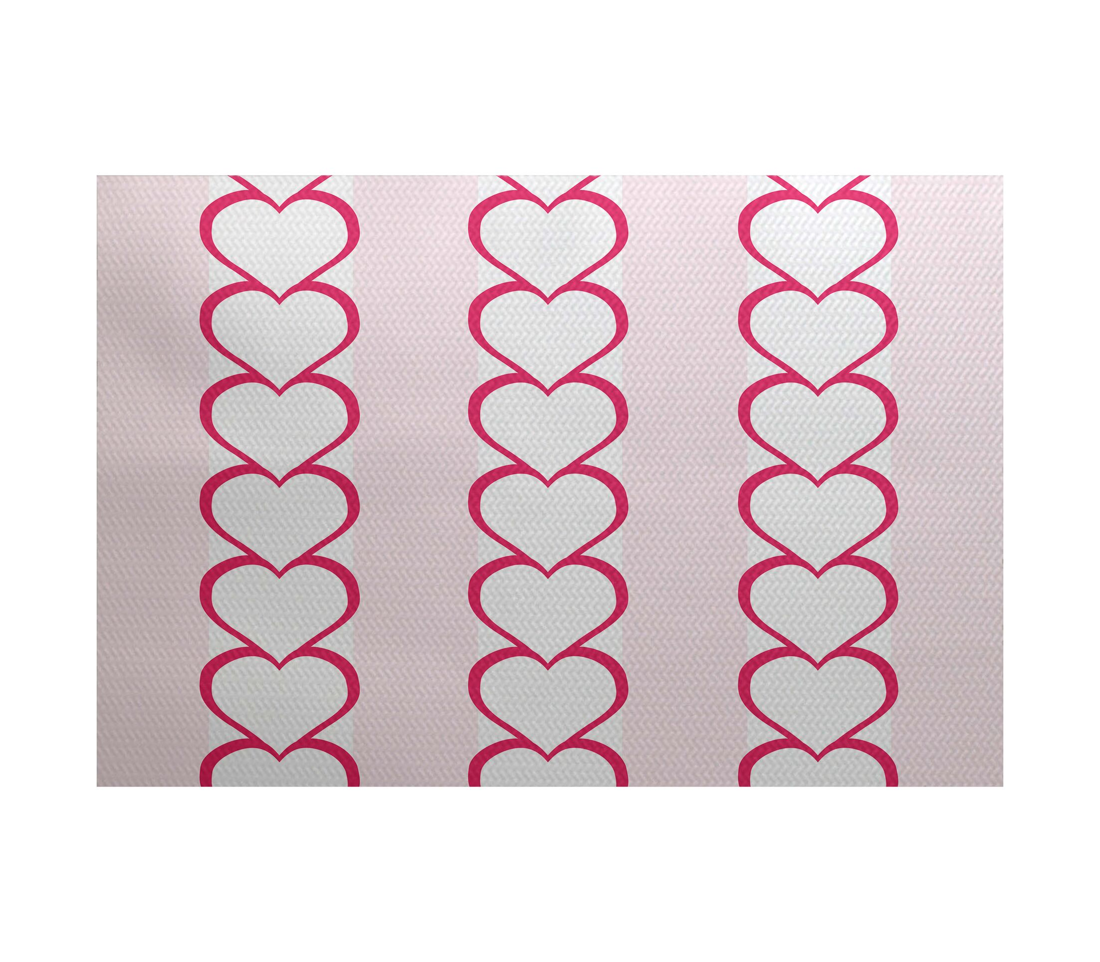 Valentine's Day Fuchsia Indoor/Outdoor Area Rug Rug Size: Rectangle 3' x 5'