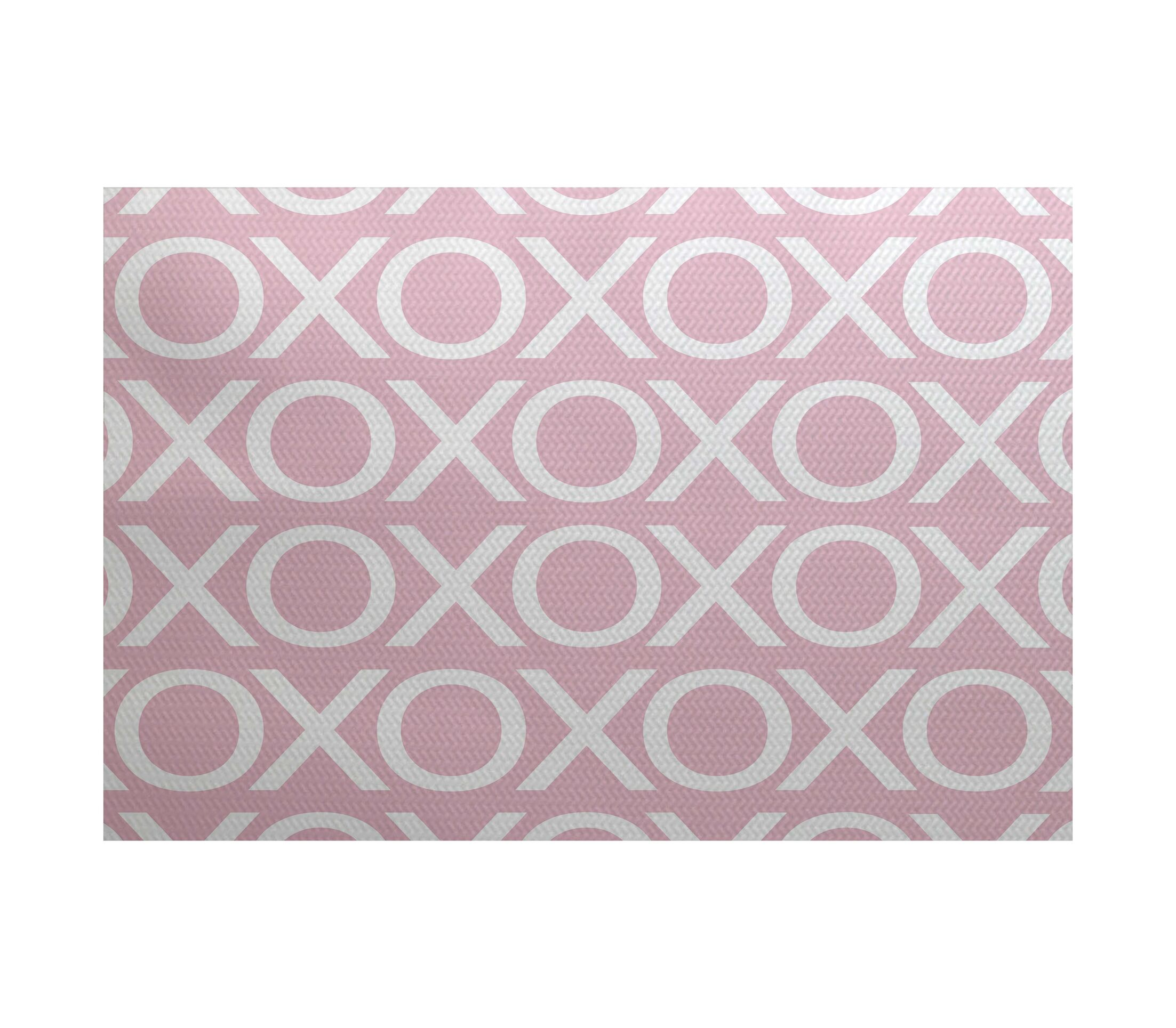 Valentine's Day Pale Pink Indoor/Outdoor Area Rug Rug Size: Rectangle 3' x 5'