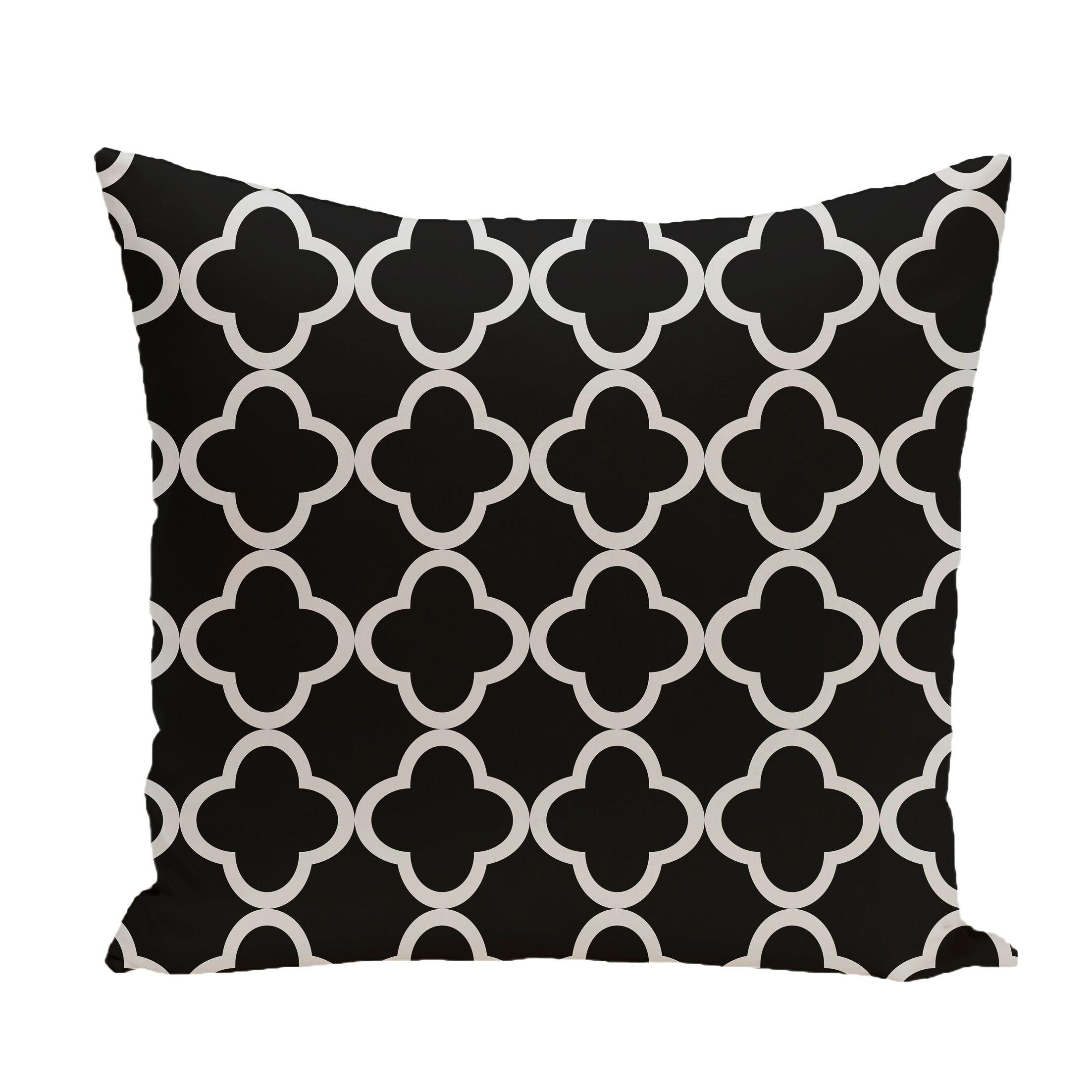 Marrakech Express Geometric Print Throw Pillow Color: Raven, Size: 20